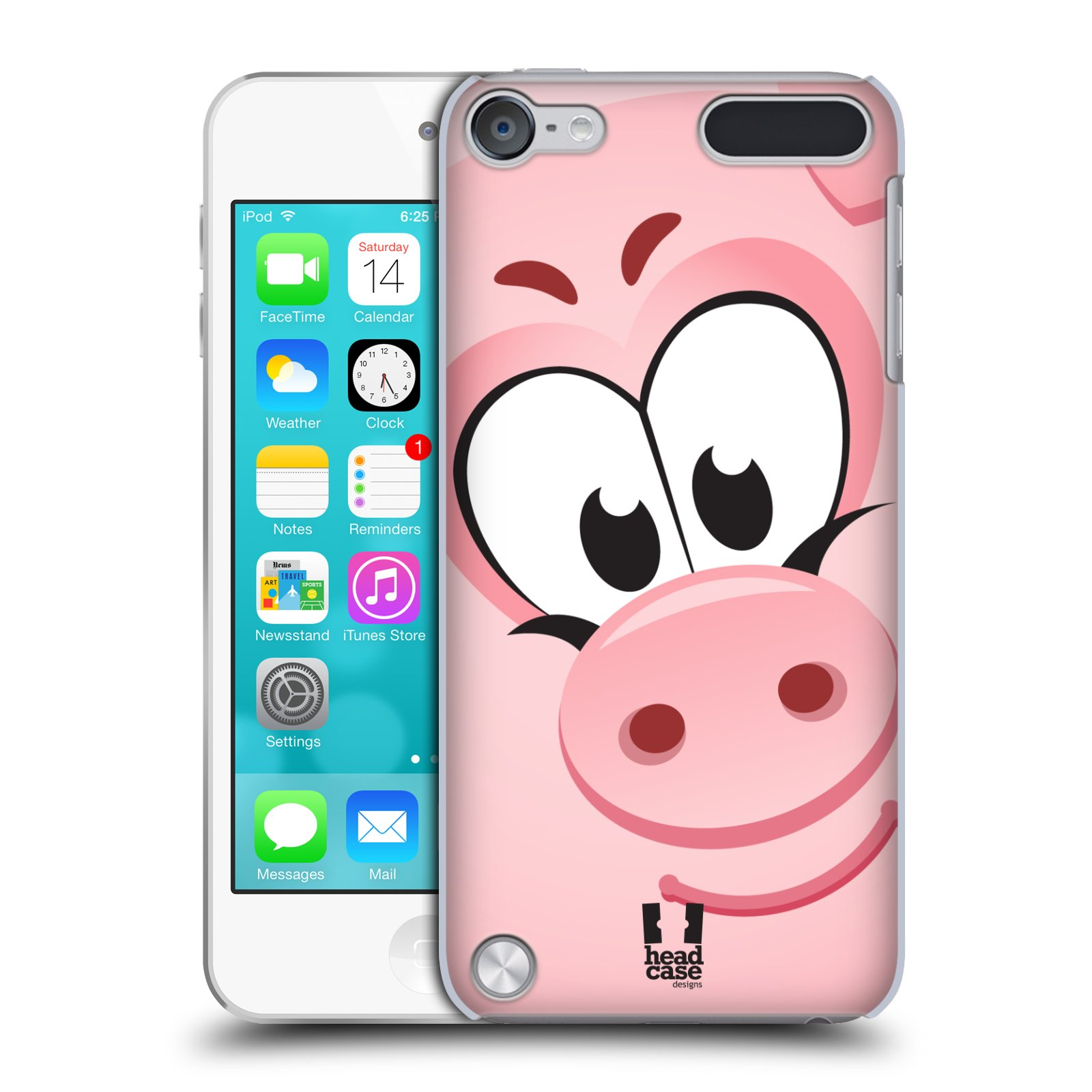 HEAD CASE DESIGNS SQUARE FACE ANIMALS CASE COVER FOR APPLE iPOD TOUCH 5G 5TH GEN