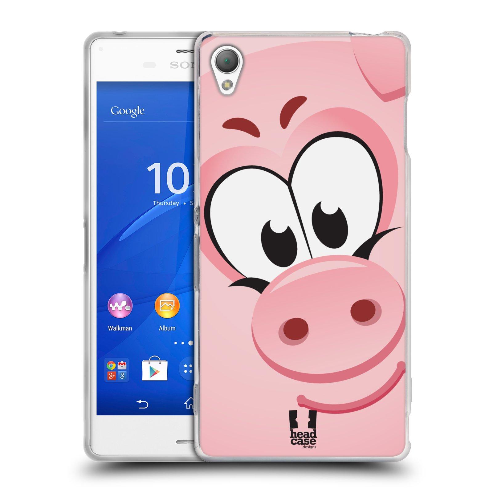 HEAD CASE silikonový obal na mobil Sony Xperia Z3 vzor Hranatá zvířátka PRASÁTKO