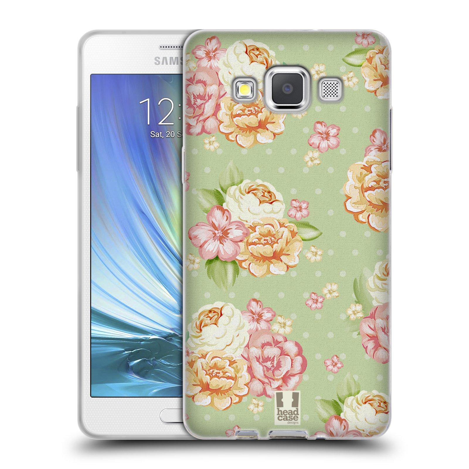 HEAD CASE silikonový obal na mobil Samsung Galaxy A5 Francouzský motiv venkov rozkvetlá zahrada