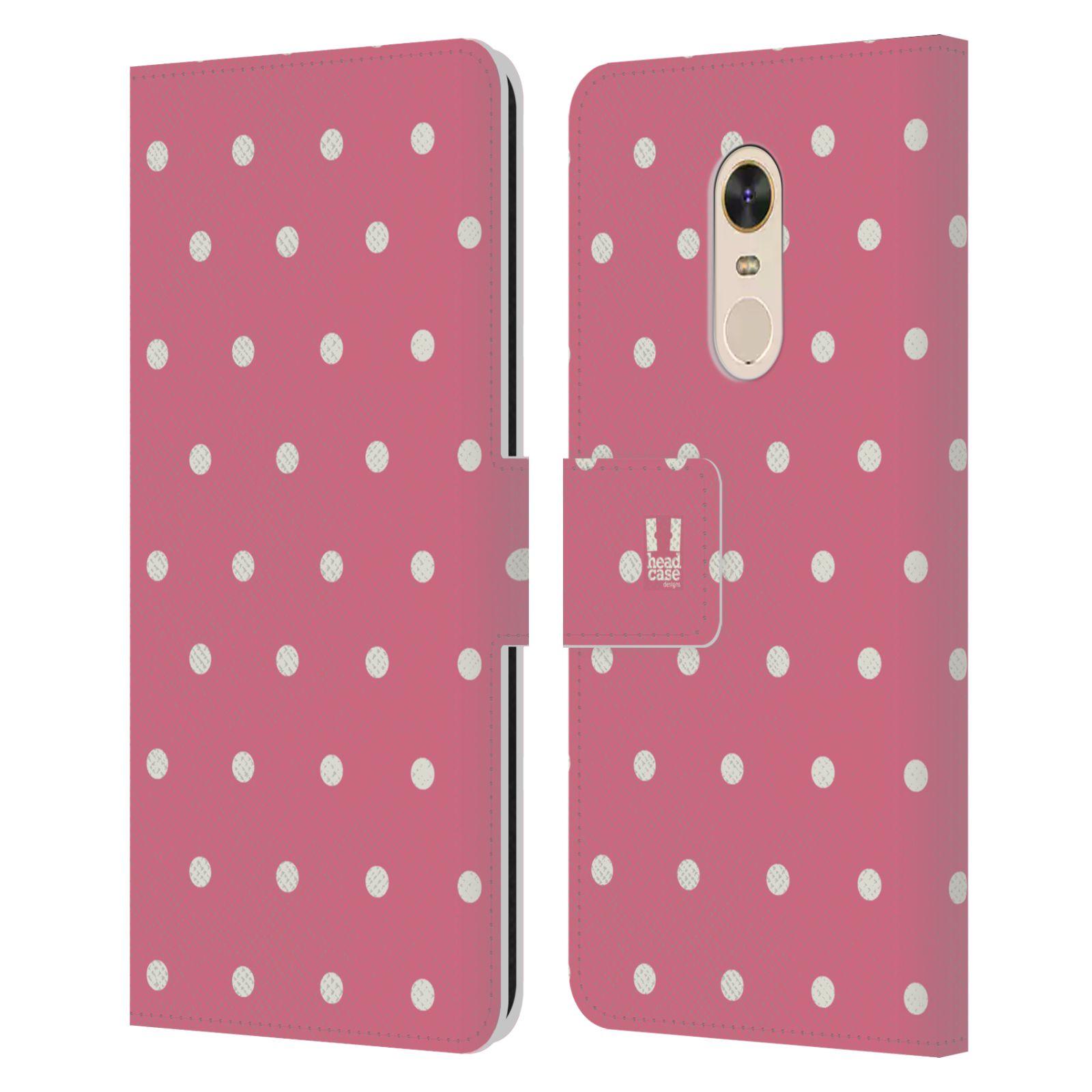 HEAD CASE Flipové pouzdro pro mobil Xiaomi Redmi 5 PLUS Francouzský venkov tečky v růžové