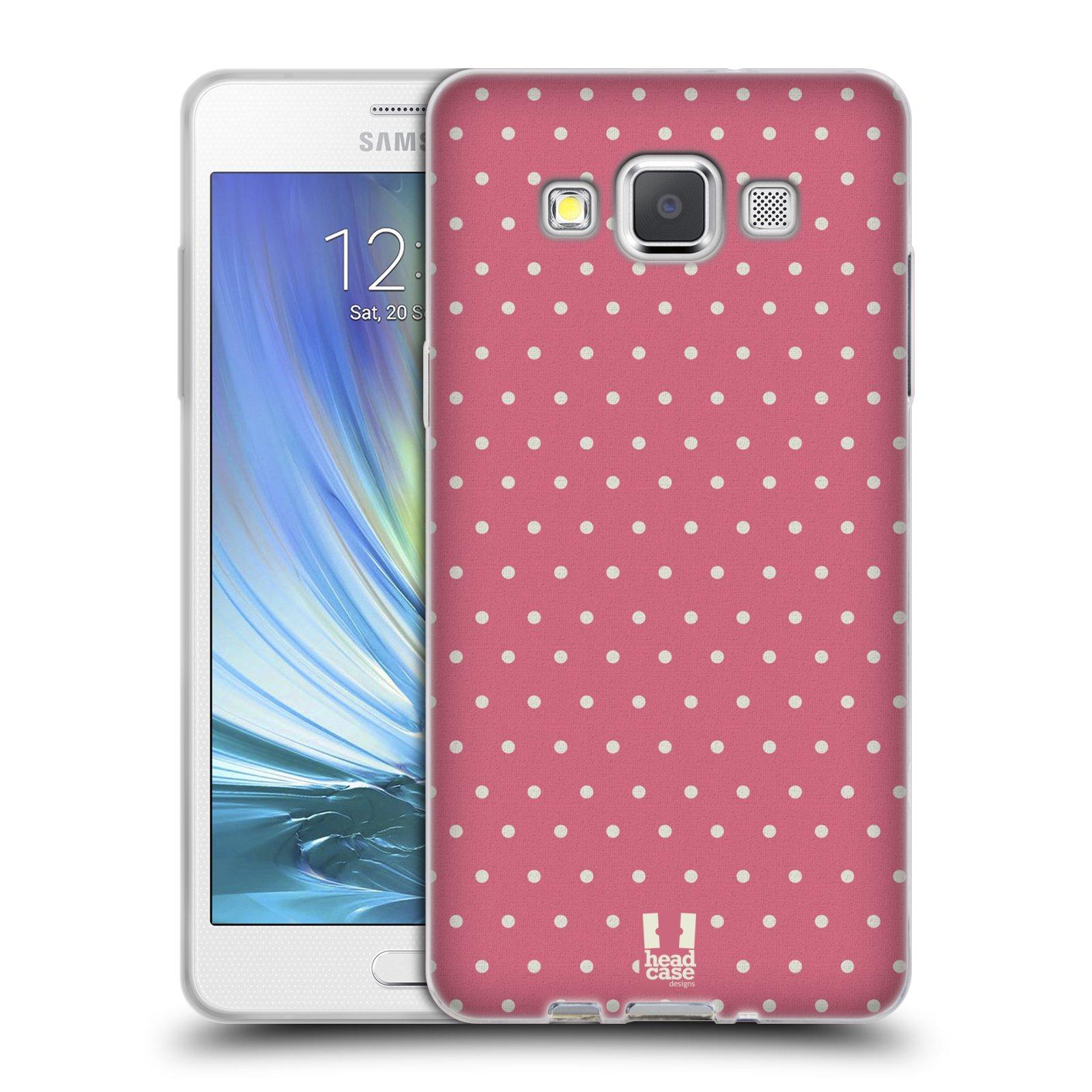 HEAD CASE silikonový obal na mobil Samsung Galaxy A5 Francouzský motiv venkov růžové puntíky