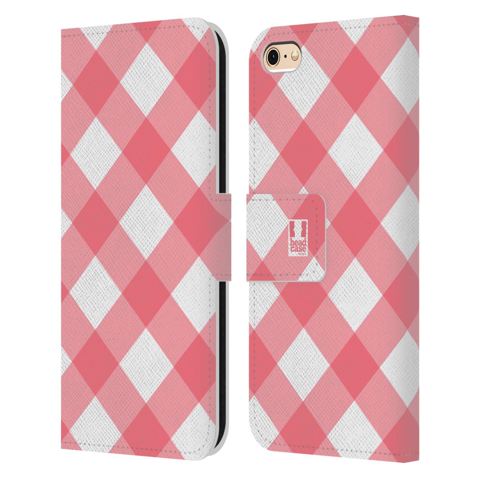 HEAD CASE Flipové pouzdro pro mobil Apple Iphone 6/6s Francouzský venkov piknik růžová