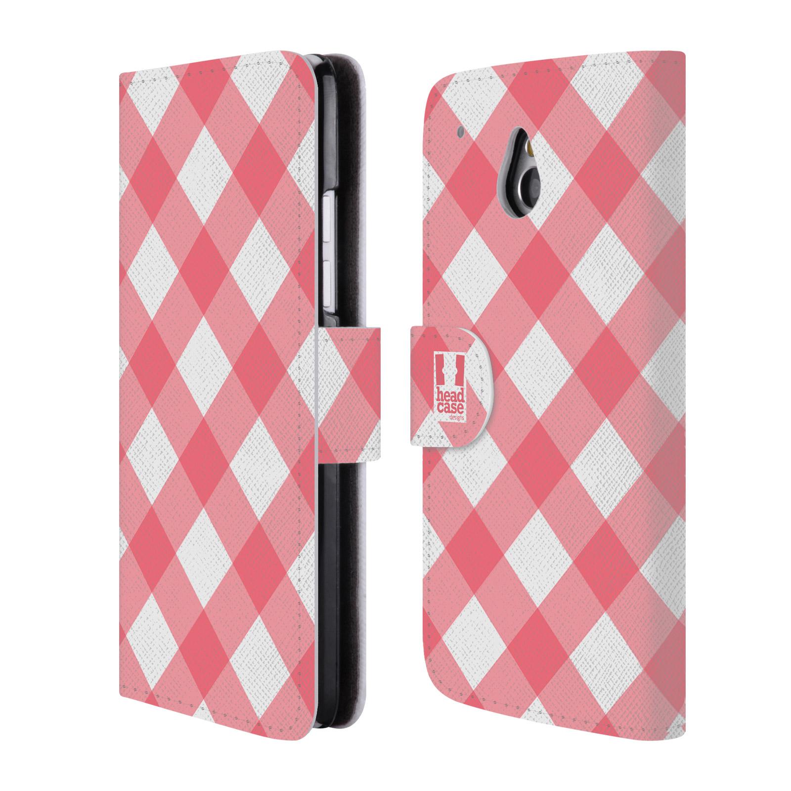 HEAD CASE Flipové pouzdro pro mobil HTC ONE MINI (M4) Francouzský venkov piknik růžová