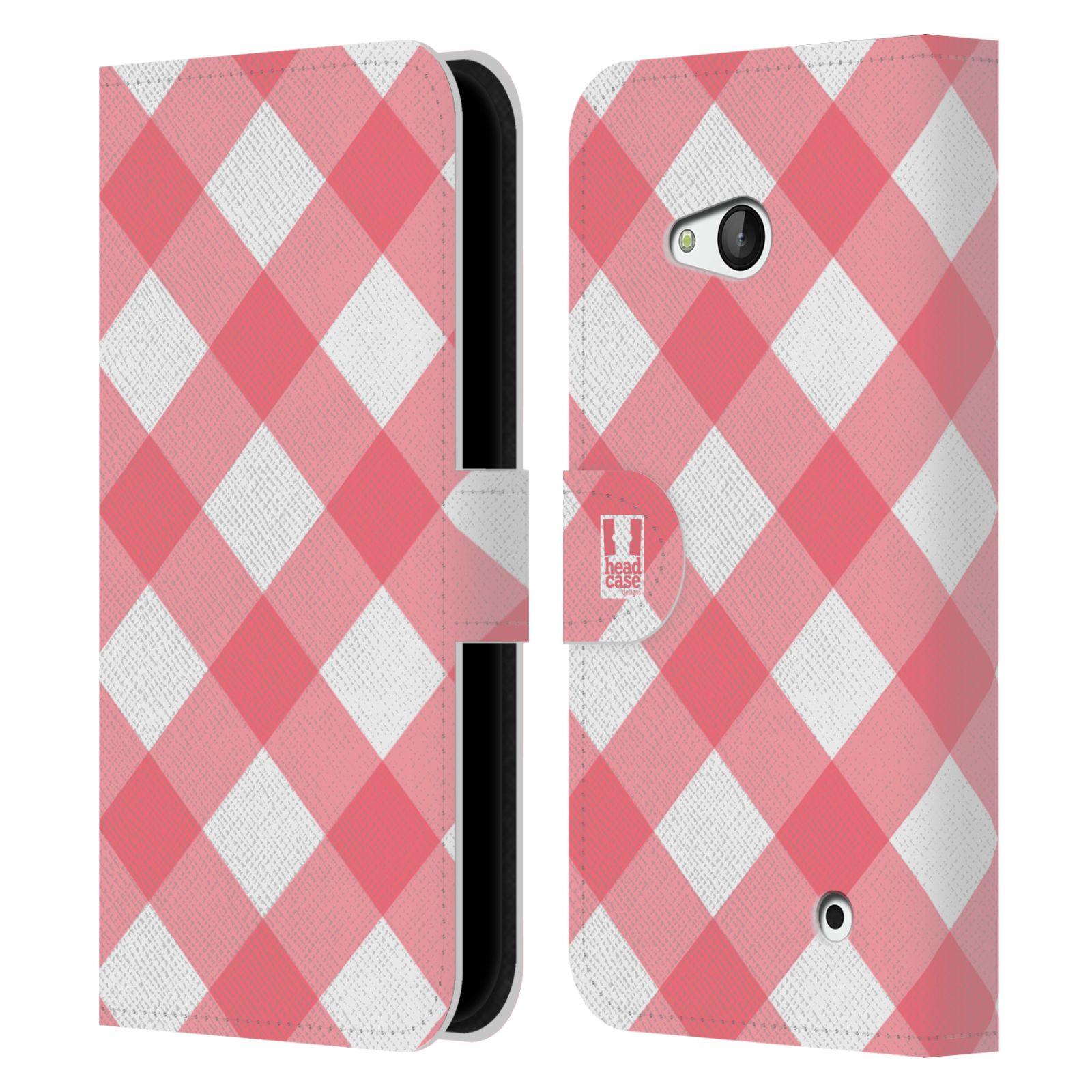 HEAD CASE Flipové pouzdro pro mobil NOKIA / MICROSOFT LUMIA 640 / LUMIA 640 DUAL Francouzský venkov piknik růžová