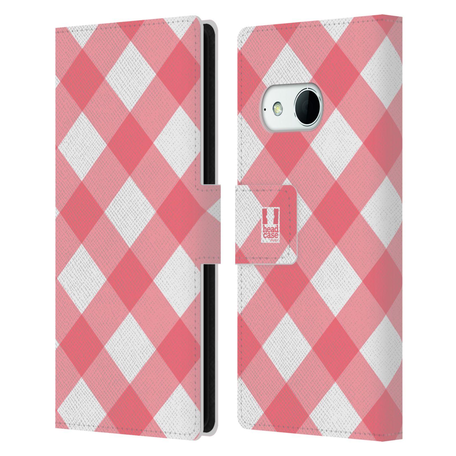 HEAD CASE Flipové pouzdro pro mobil HTC ONE MINI 2 (M8) Francouzský venkov piknik růžová