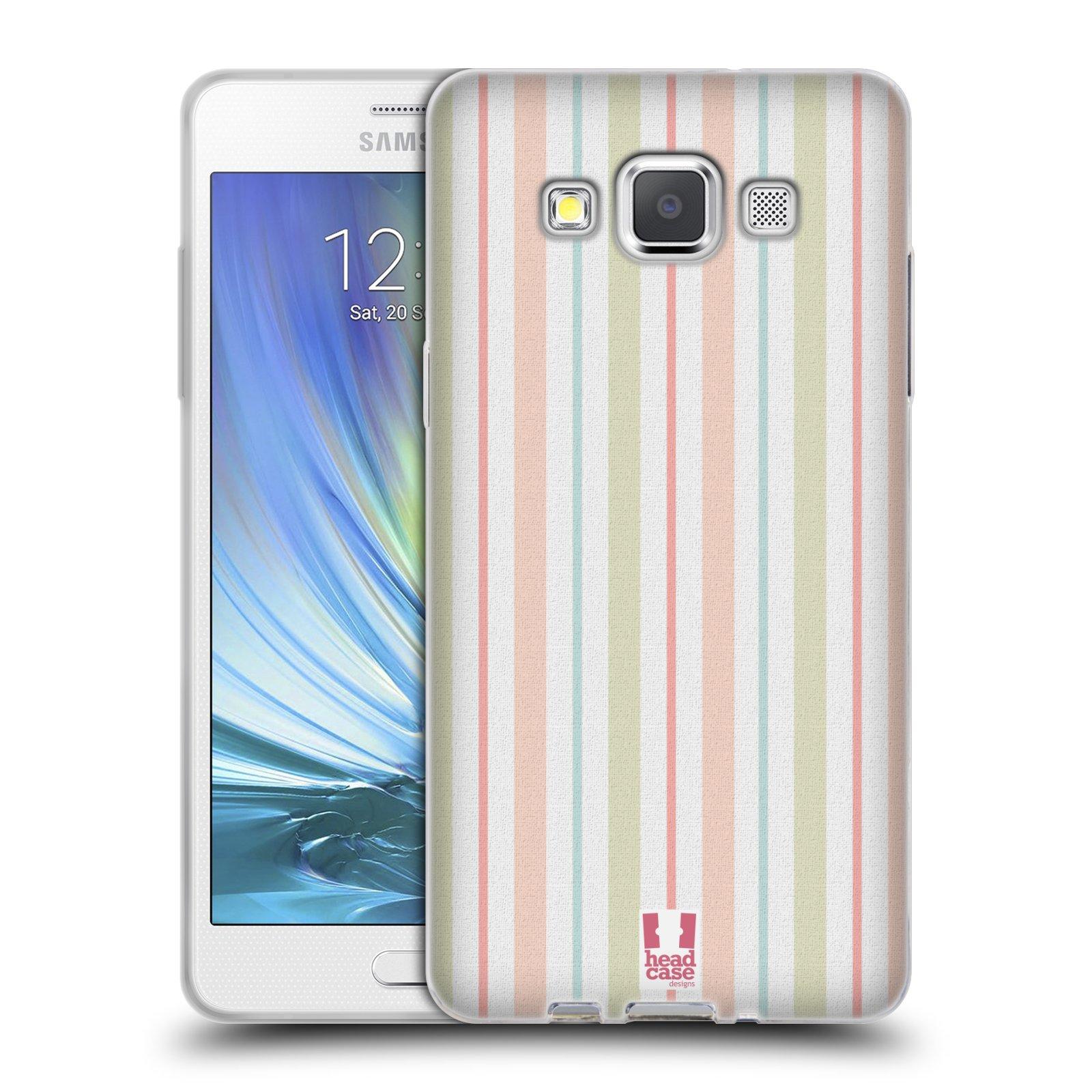 HEAD CASE silikonový obal na mobil Samsung Galaxy A5 Francouzský motiv venkov barevné proužky