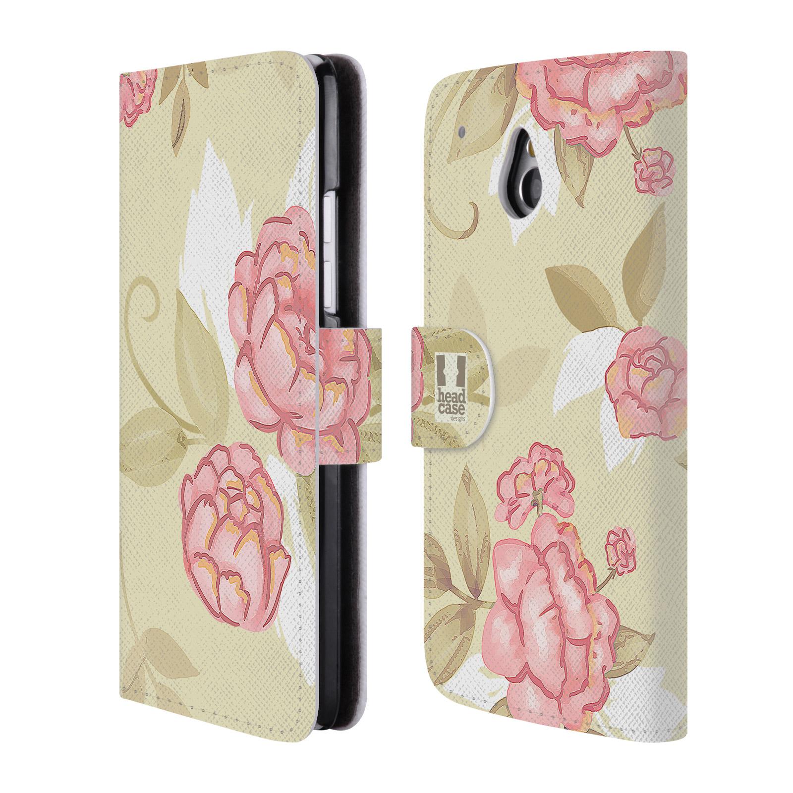 HEAD CASE Flipové pouzdro pro mobil HTC ONE MINI (M4) Francouzský venkov růže VINTAGE