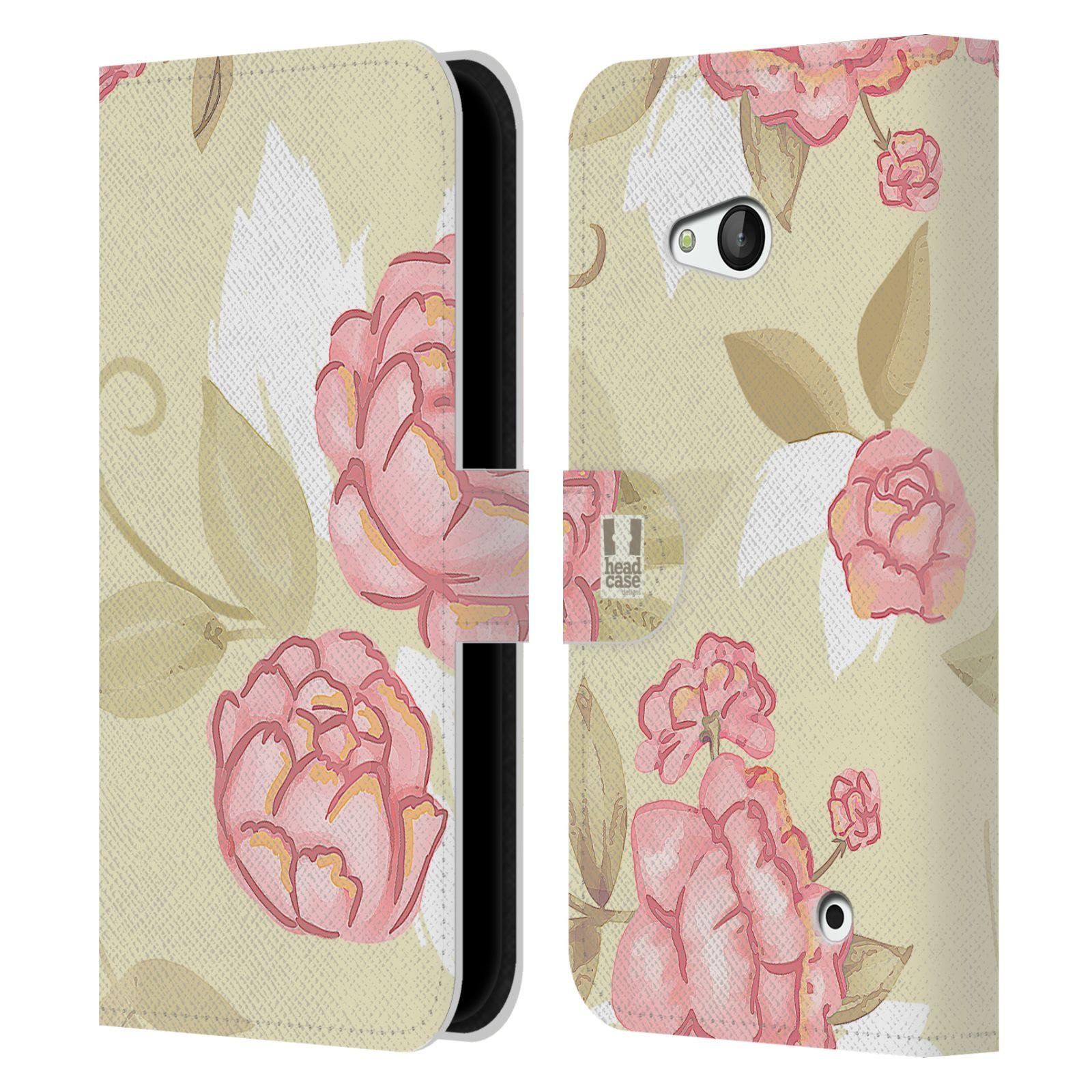 HEAD CASE Flipové pouzdro pro mobil NOKIA / MICROSOFT LUMIA 640 / LUMIA 640 DUAL Francouzský venkov růže VINTAGE