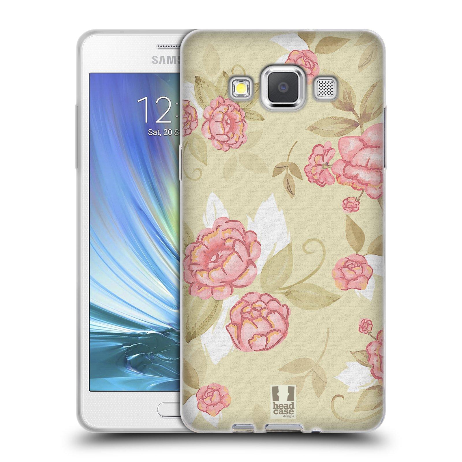 HEAD CASE silikonový obal na mobil Samsung Galaxy A5 Francouzský motiv venkov velké růže