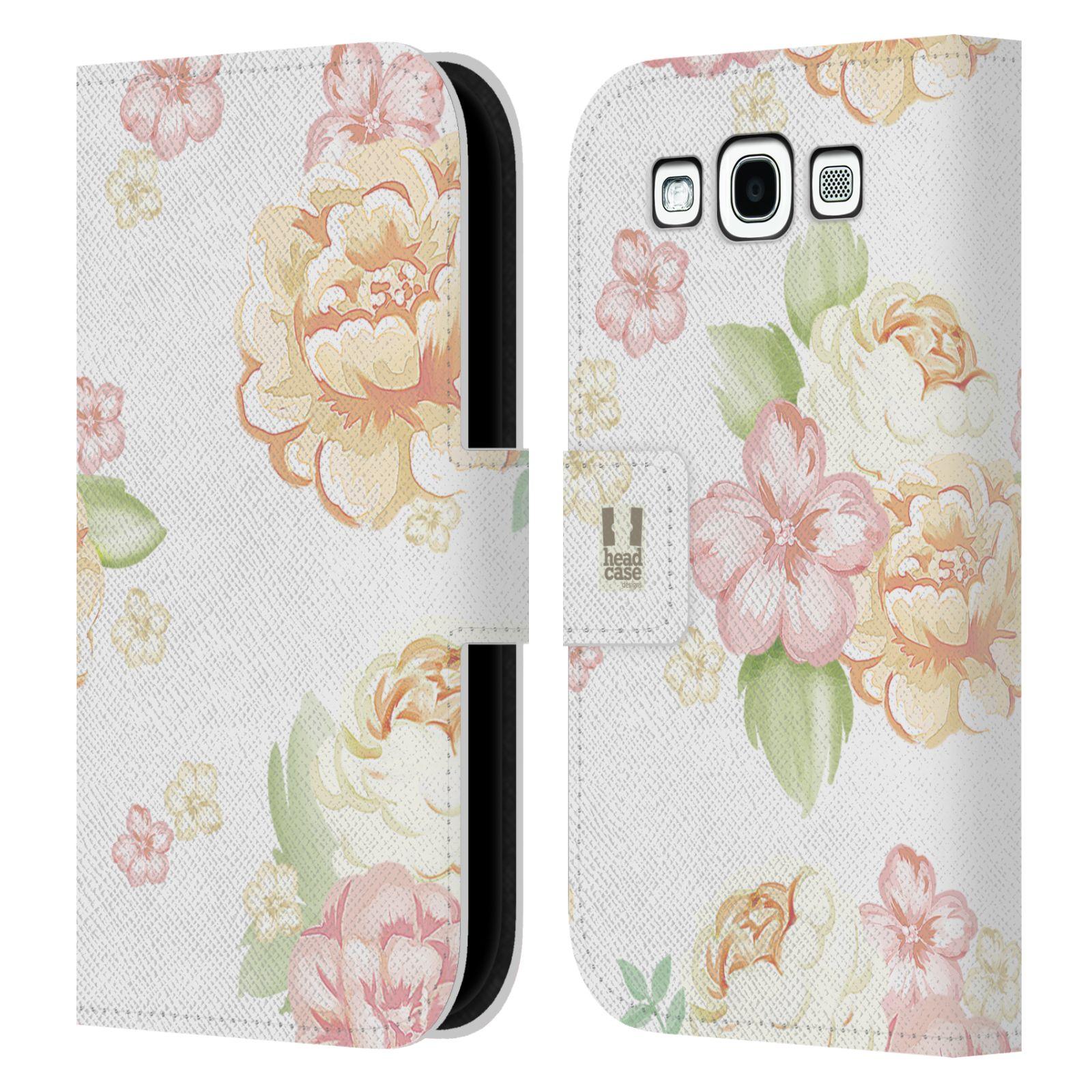 HEAD CASE Flipové pouzdro pro mobil Samsung Galaxy S3 Francouzský venkov květ bílá