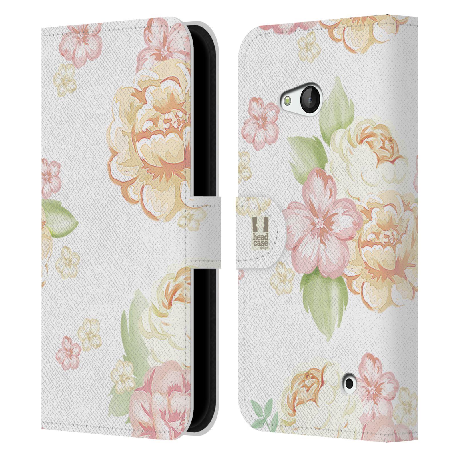 HEAD CASE Flipové pouzdro pro mobil NOKIA / MICROSOFT LUMIA 640 / LUMIA 640 DUAL Francouzský venkov květ bílá
