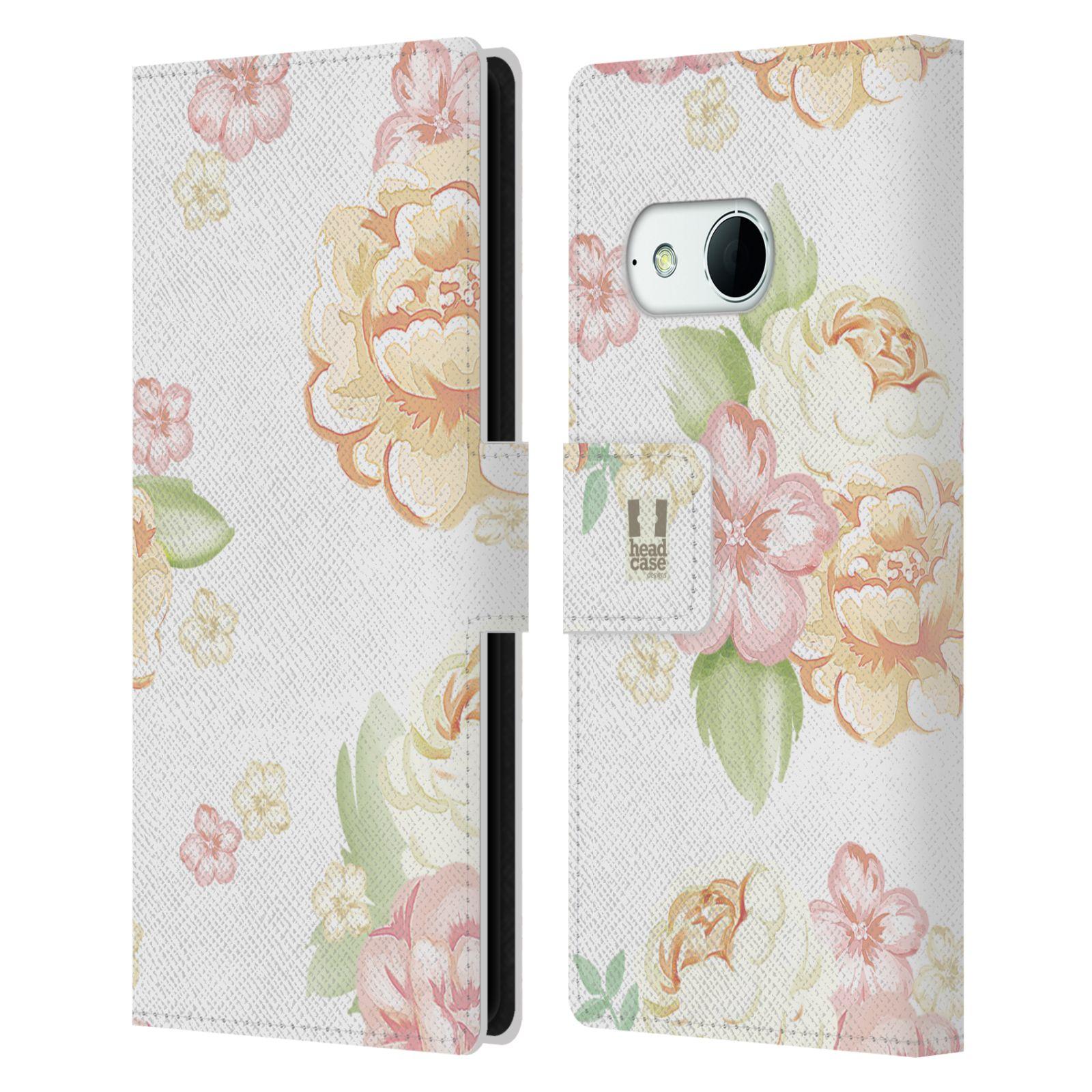 HEAD CASE Flipové pouzdro pro mobil HTC ONE MINI 2 (M8) Francouzský venkov květ bílá