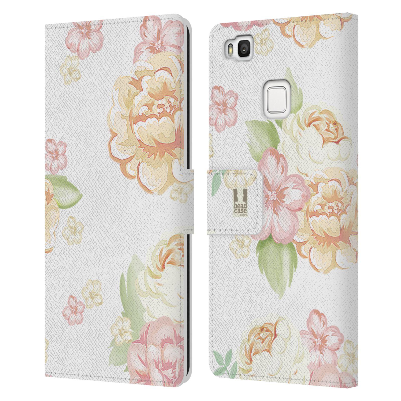 HEAD CASE Flipové pouzdro pro mobil Huawei P9 LITE Francouzský venkov květ bílá