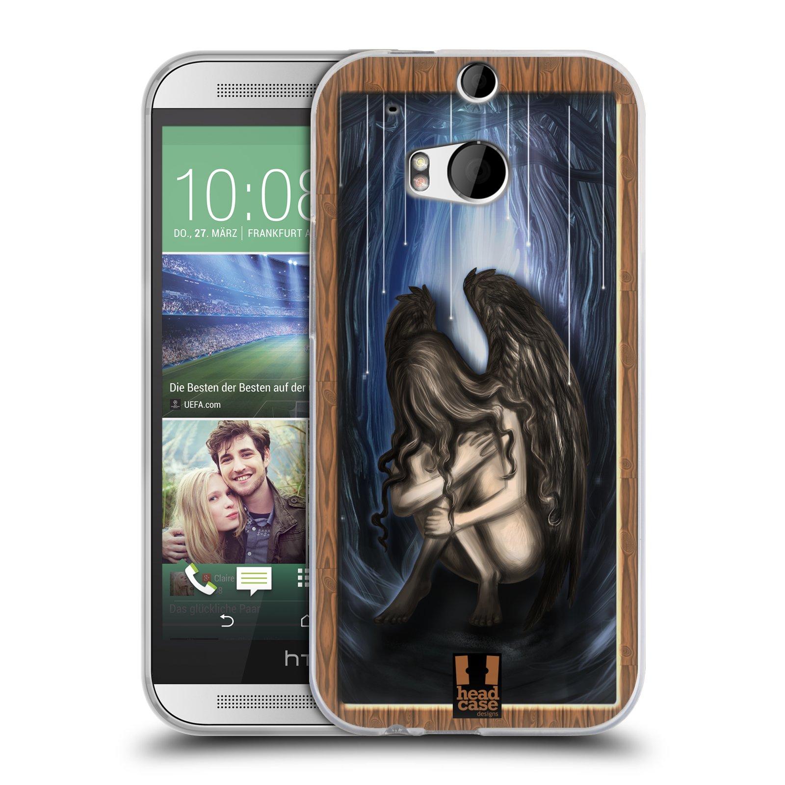 HEAD CASE silikonový obal na mobil HTC ONE (M8) vzor Šedá skříňka ANDĚL