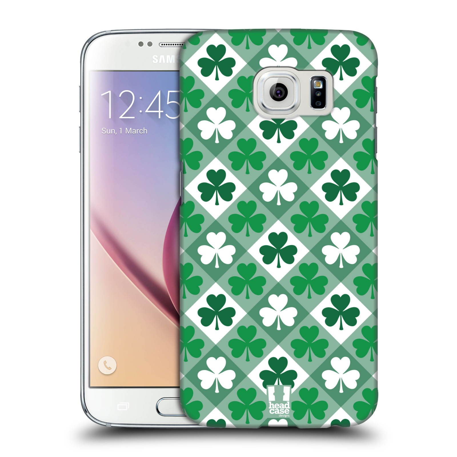 Head case designs shamrock patterns hard back case for for Cell phone cover design ideas