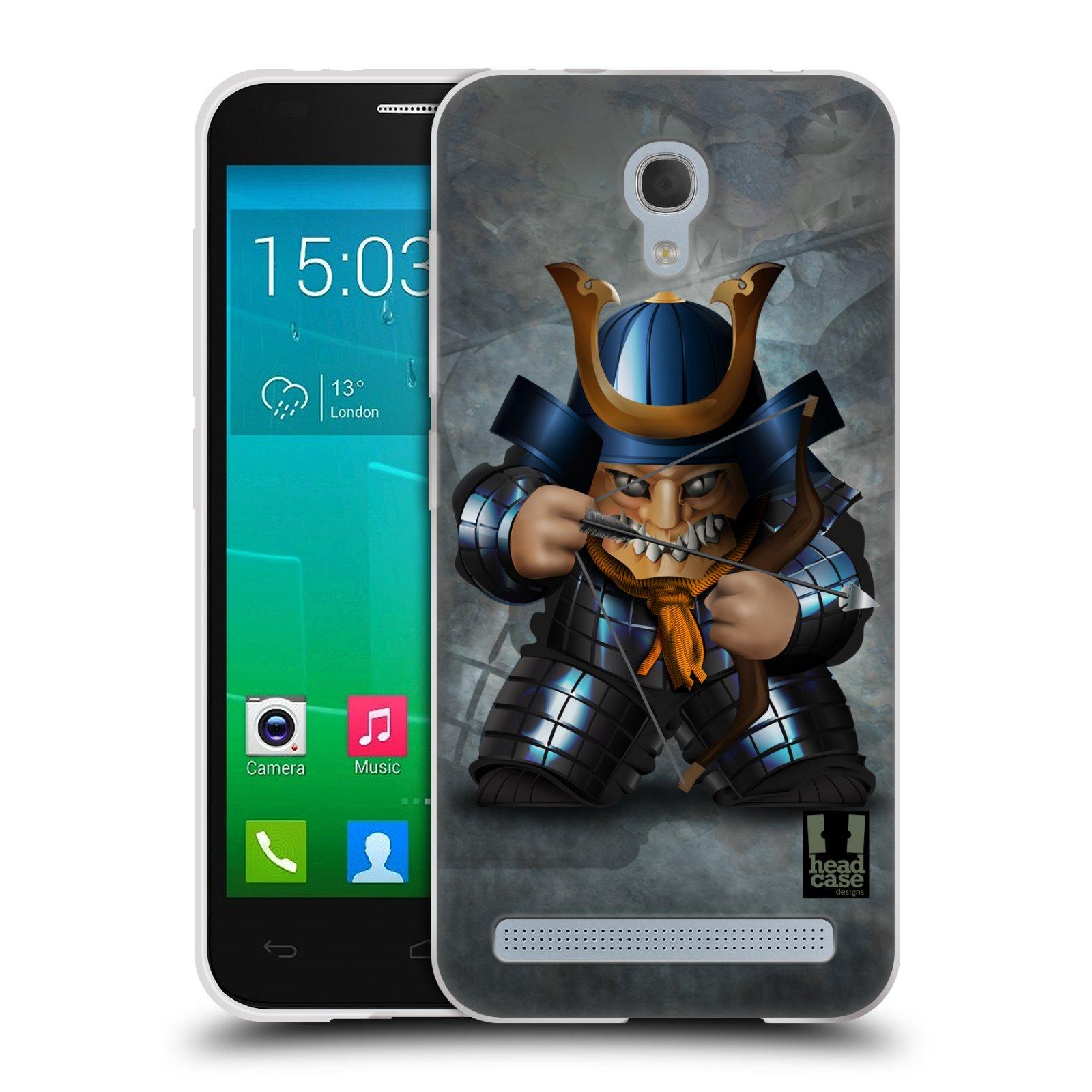 HEAD CASE silikonový obal na mobil Alcatel Idol 2 MINI S 6036Y vzor Malí bojovníci SHOGUN STŘELEC