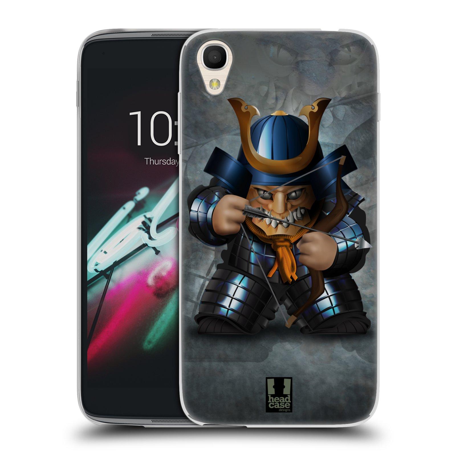 HEAD CASE silikonový obal na mobil Alcatel Idol 3 OT-6039Y (4.7) vzor Malí bojovníci SHOGUN STŘELEC