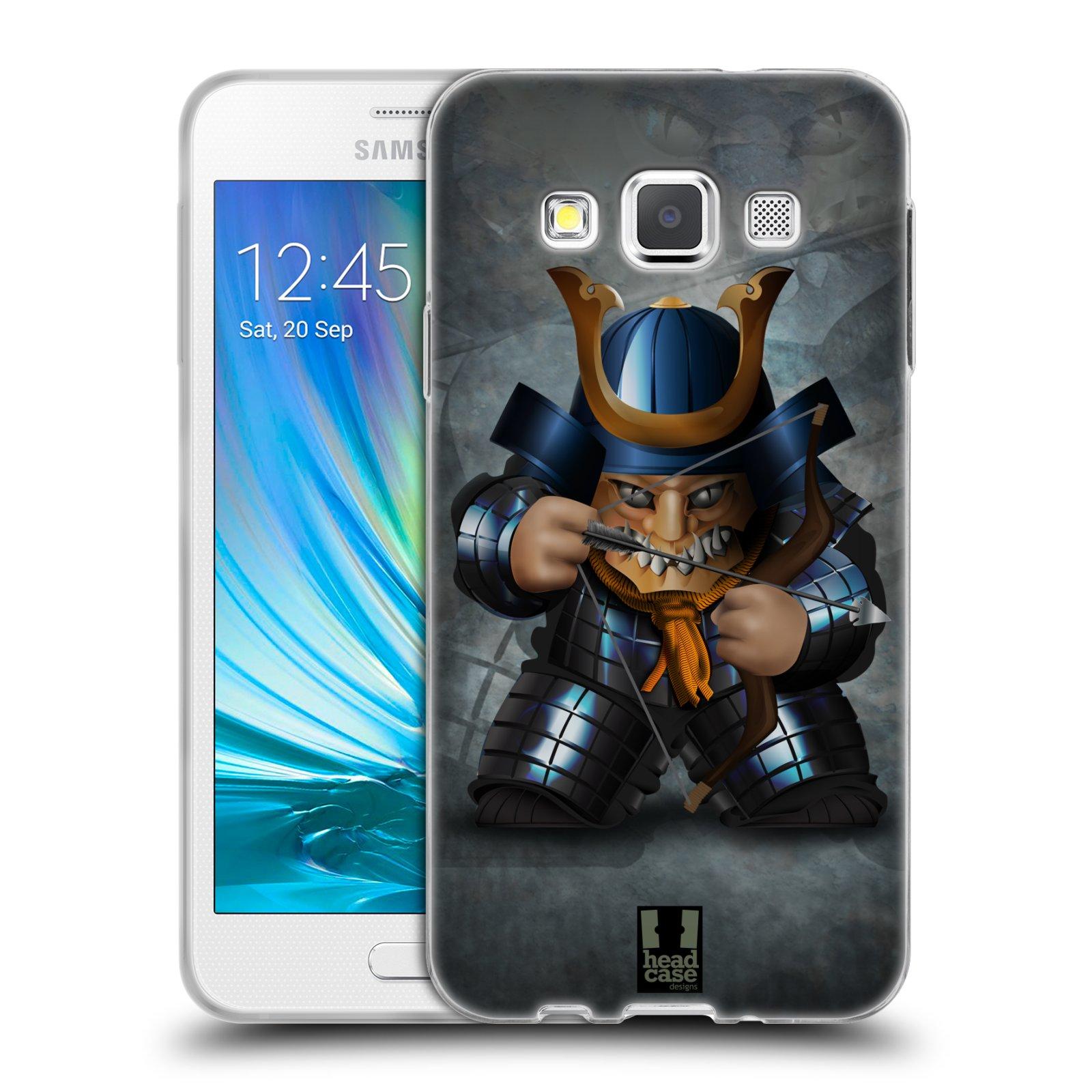 HEAD CASE silikonový obal na mobil Samsung Galaxy A3 vzor Malí bojovníci SHOGUN STŘELEC
