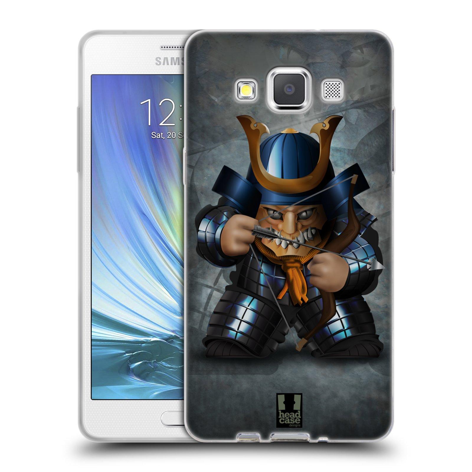 HEAD CASE silikonový obal na mobil Samsung Galaxy A5 vzor Malí bojovníci SHOGUN STŘELEC