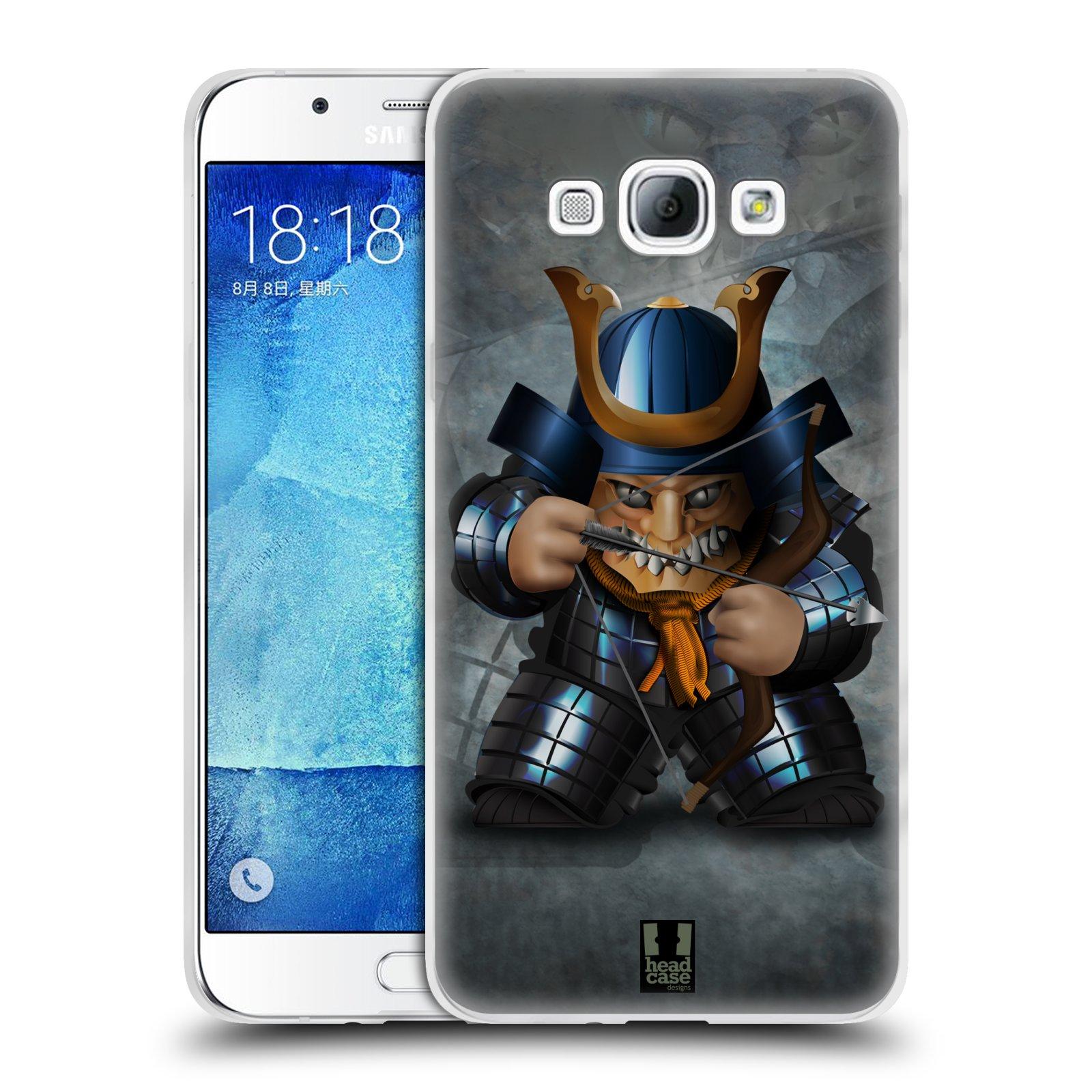 HEAD CASE silikonový obal na mobil Samsung Galaxy A8 vzor Malí bojovníci SHOGUN STŘELEC