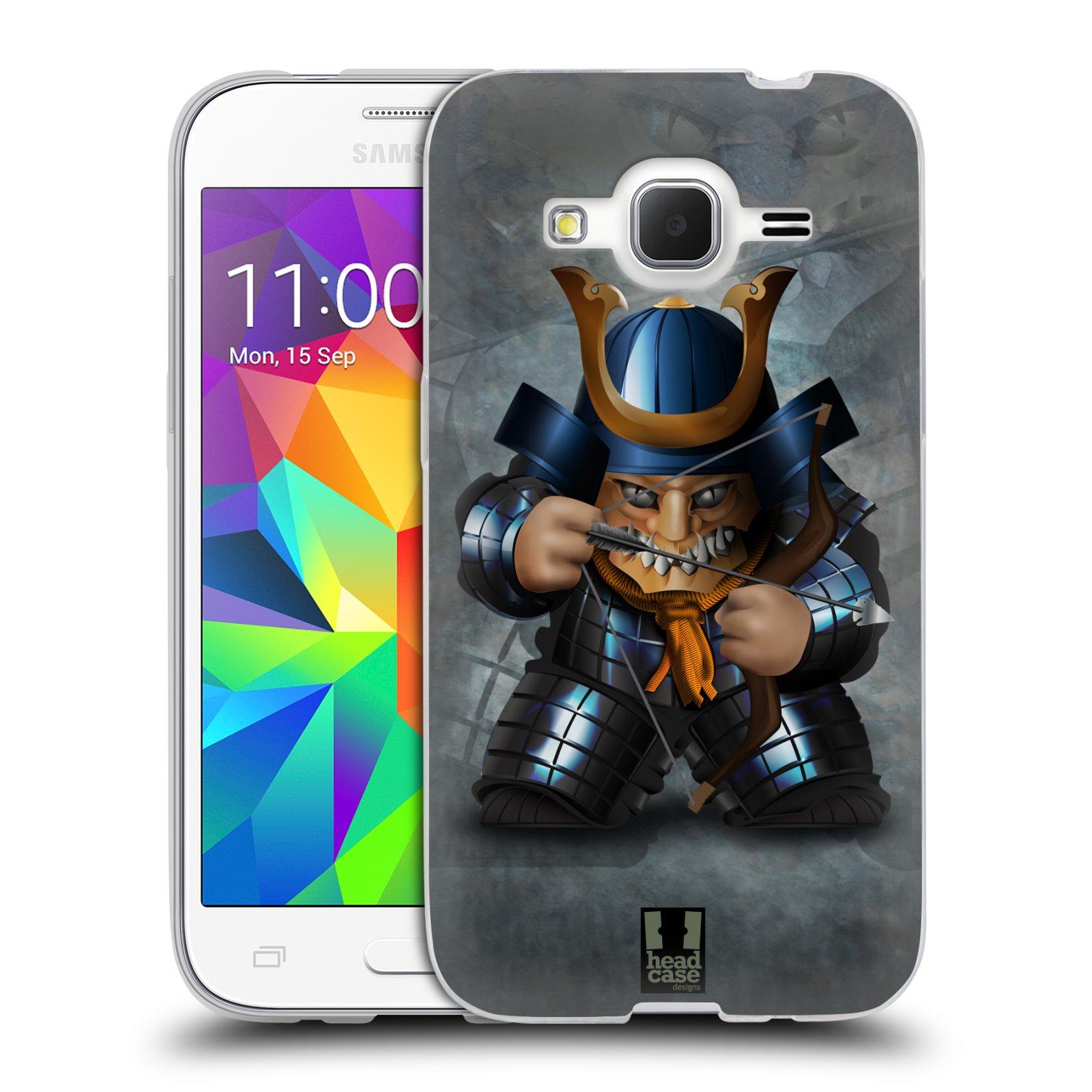 HEAD CASE silikonový obal na mobil Samsung Galaxy Core Prime (G360) vzor Malí bojovníci SHOGUN STŘELEC