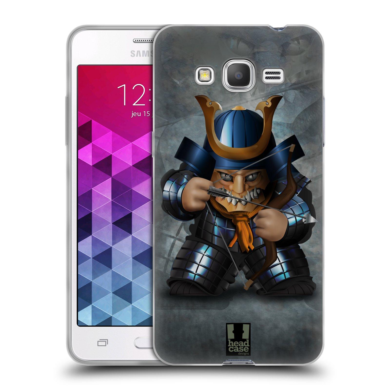 HEAD CASE silikonový obal na mobil Samsung Galaxy GRAND PRIME vzor Malí bojovníci SHOGUN STŘELEC