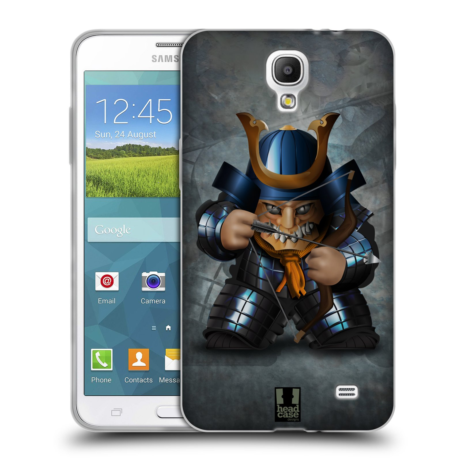 HEAD CASE silikonový obal na mobil Samsung Galaxy Mega 2 vzor Malí bojovníci SHOGUN STŘELEC