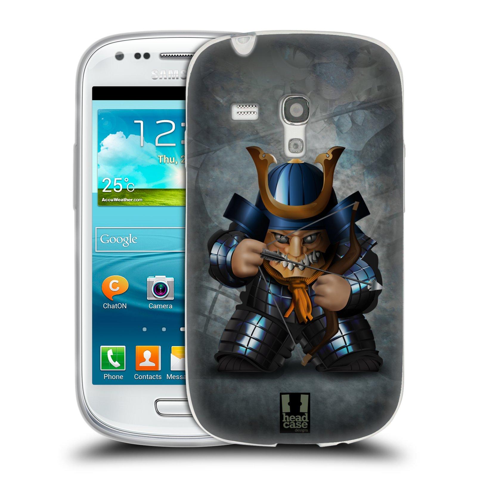 HEAD CASE silikonový obal na mobil Samsung Galaxy S3 MINI i8190 vzor Malí bojovníci SHOGUN STŘELEC