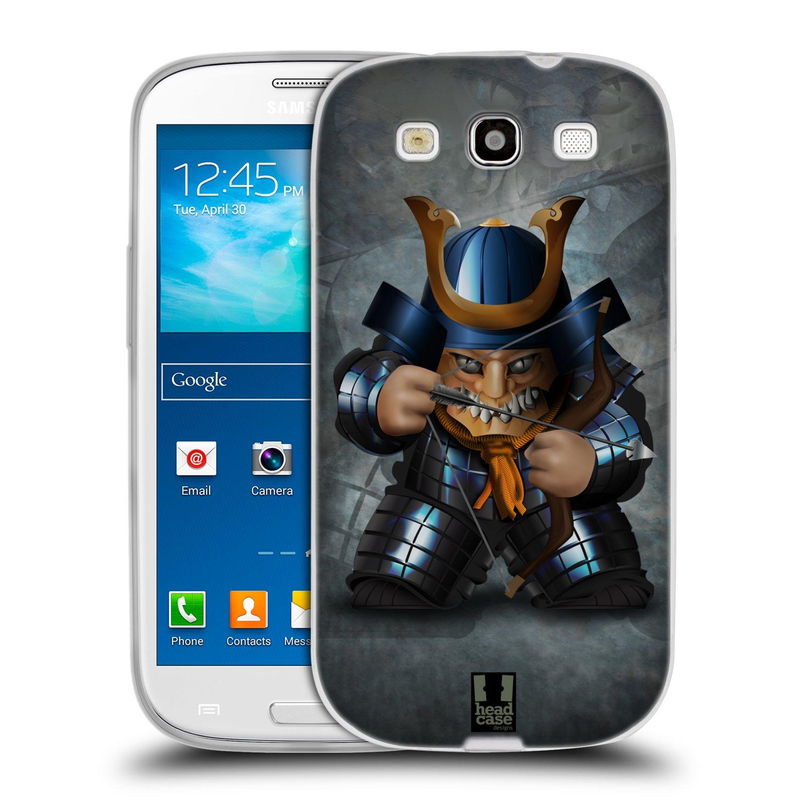 HEAD CASE silikonový obal na mobil Samsung Galaxy S3 i9300 vzor Malí bojovníci SHOGUN STŘELEC