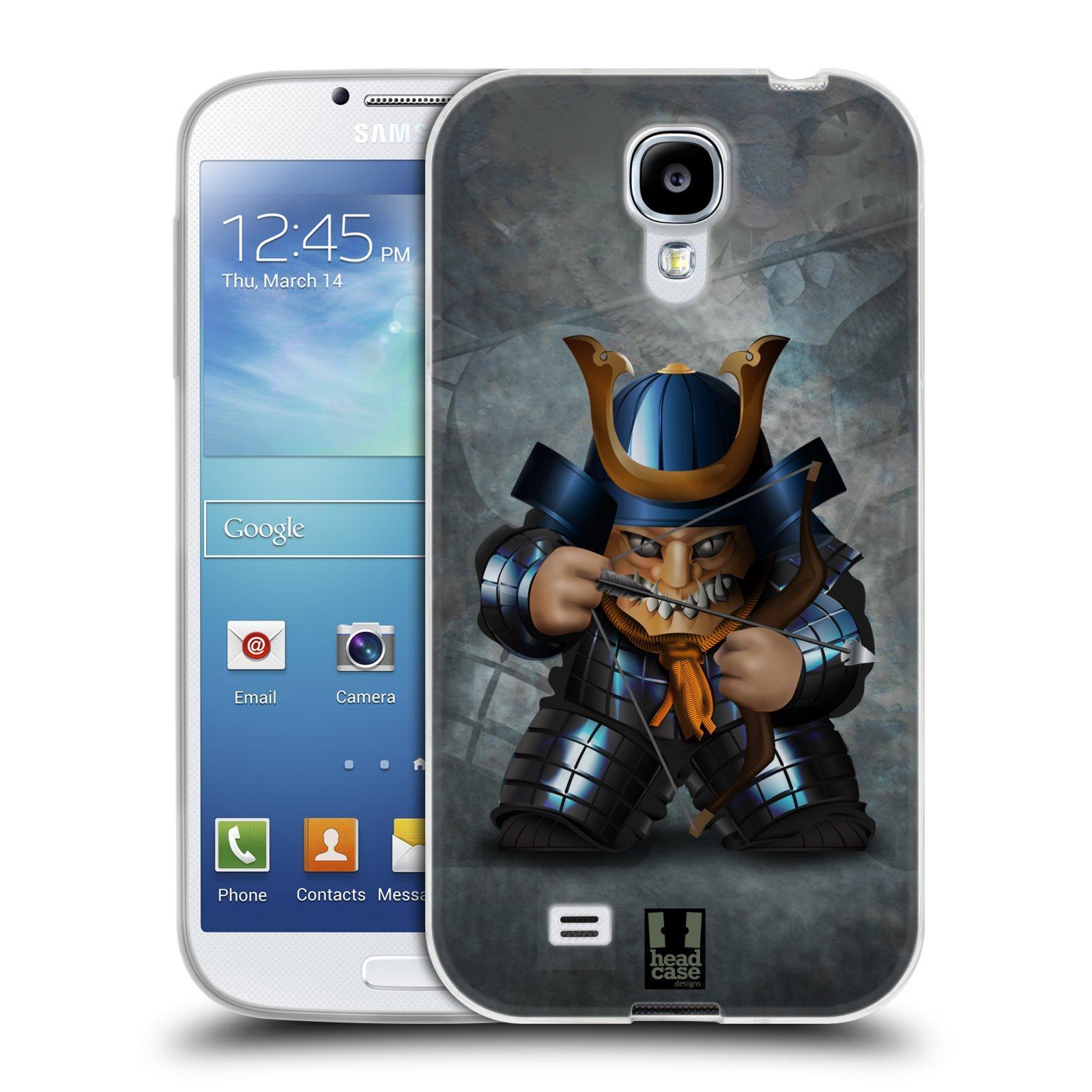 HEAD CASE silikonový obal na mobil Samsung Galaxy S4 i9500 vzor Malí bojovníci SHOGUN STŘELEC