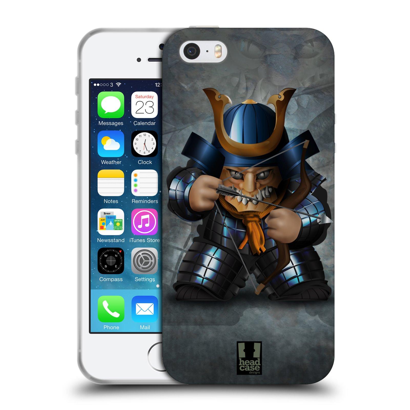 HEAD CASE silikonový obal na mobil Apple Iphone 5/5S vzor Malí bojovníci SHOGUN STŘELEC