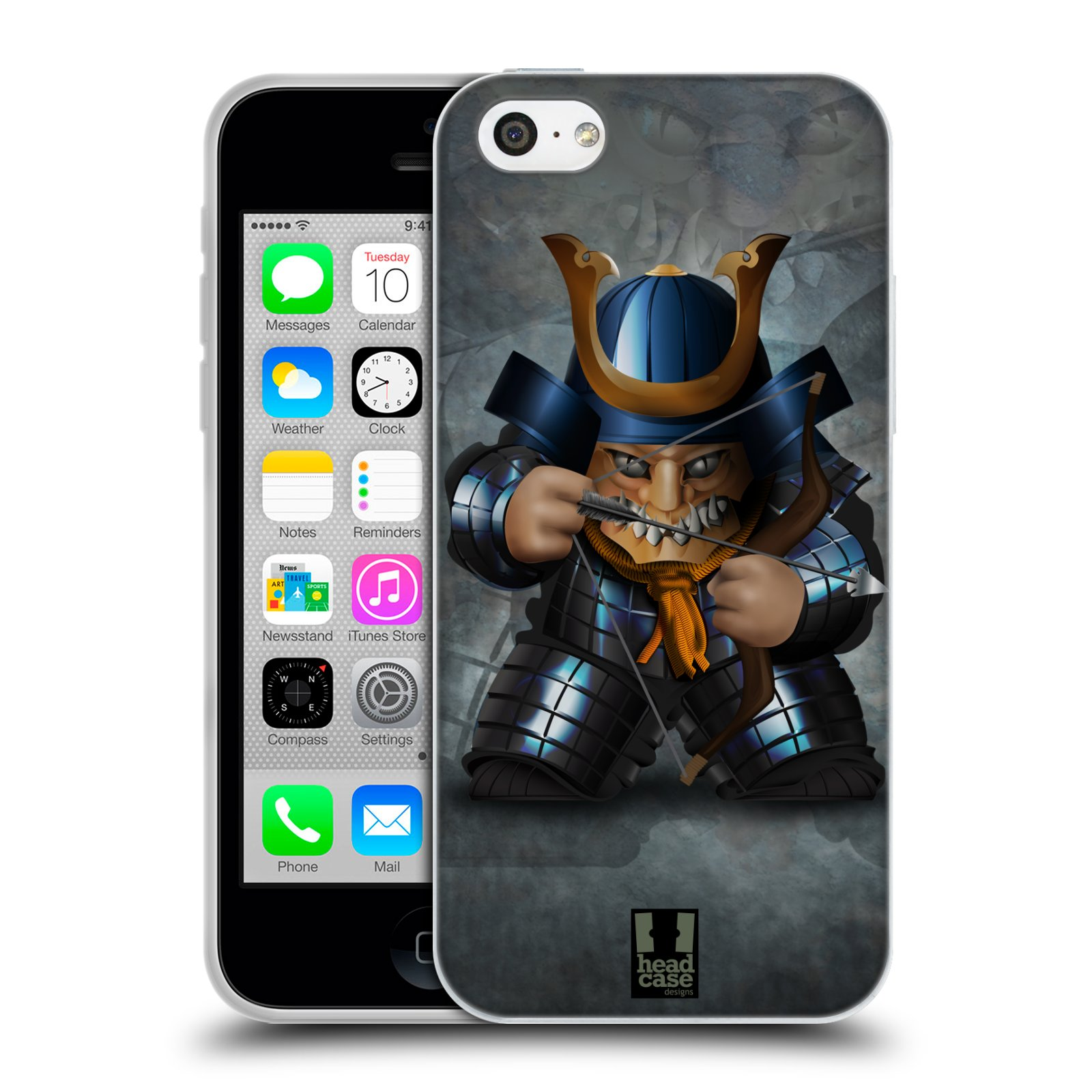 HEAD CASE silikonový obal na mobil Apple Iphone 5C vzor Malí bojovníci SHOGUN STŘELEC