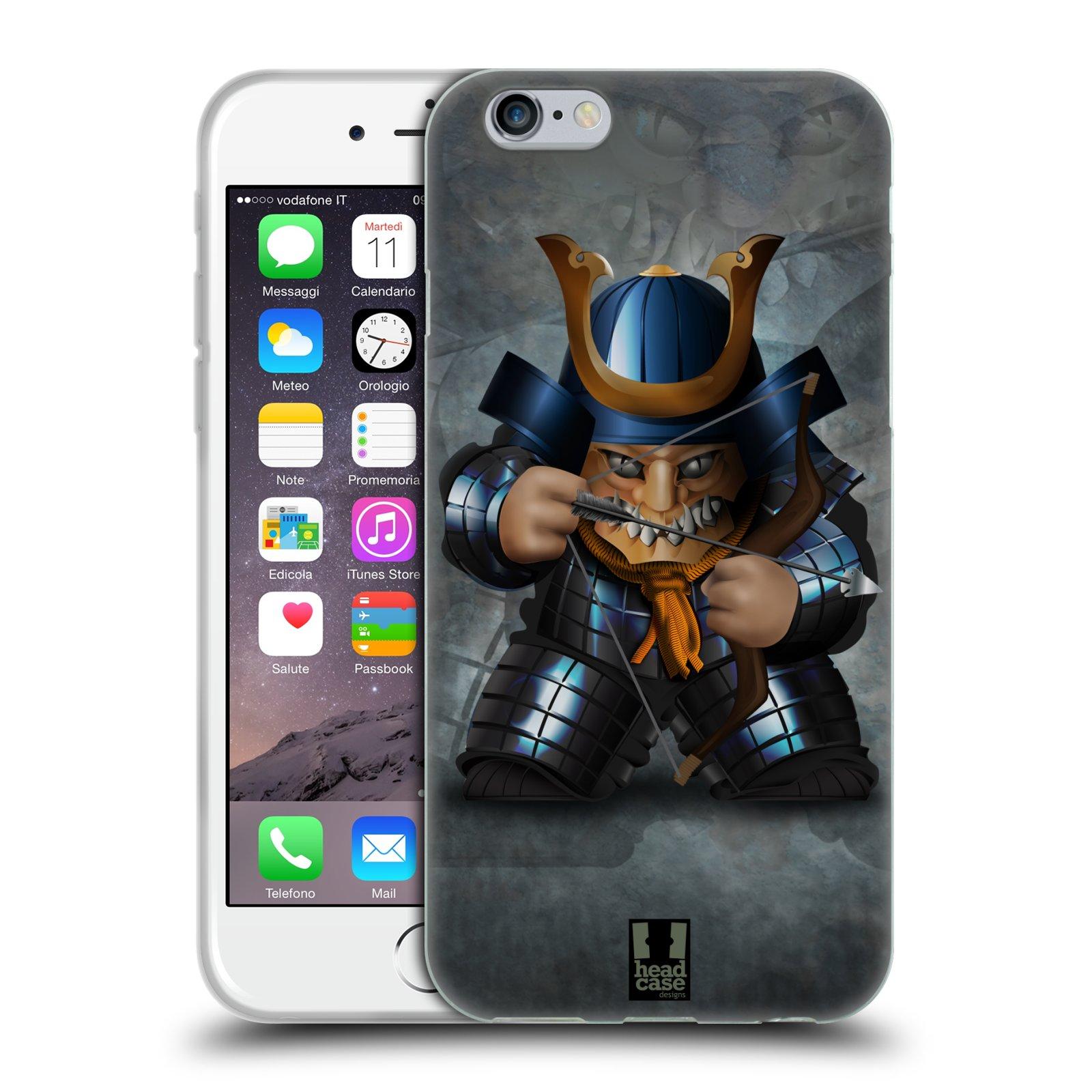 HEAD CASE silikonový obal na mobil Apple Iphone 6/6S vzor Malí bojovníci SHOGUN STŘELEC
