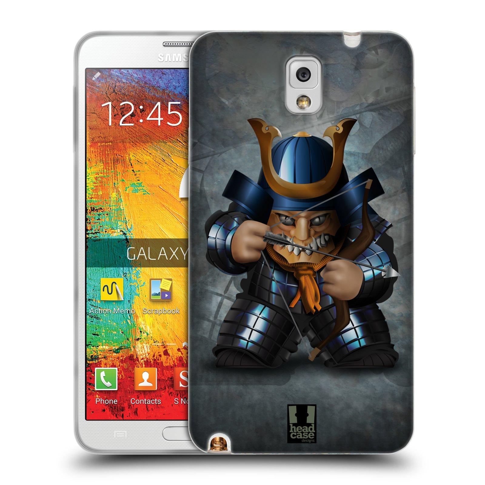 HEAD CASE silikonový obal na mobil Samsung Galaxy Note 3 (N9005) vzor Malí bojovníci SHOGUN STŘELEC
