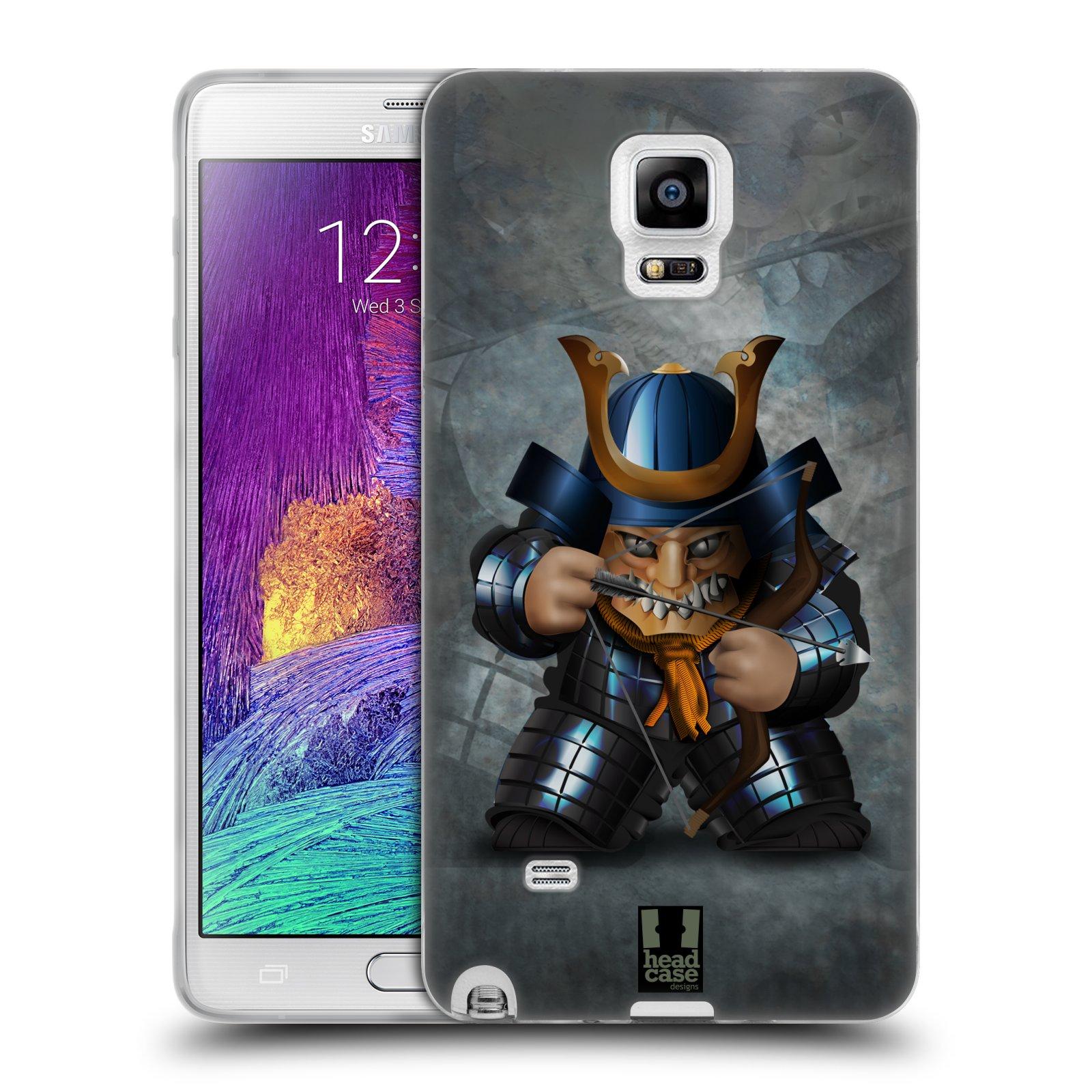 HEAD CASE silikonový obal na mobil Samsung Galaxy Note 4 (N910) vzor Malí bojovníci SHOGUN STŘELEC