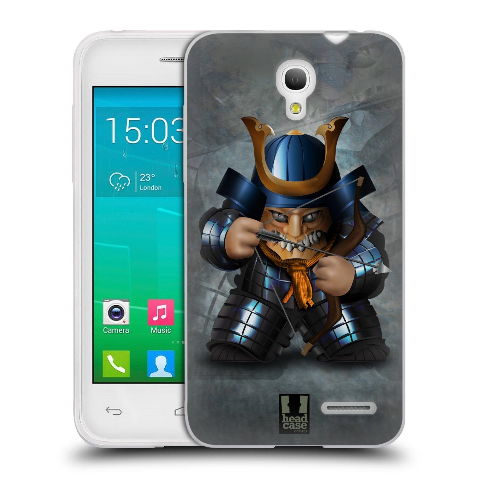 HEAD CASE silikonový obal na mobil Alcatel POP S3 OT-5050Y vzor Malí bojovníci SHOGUN STŘELEC