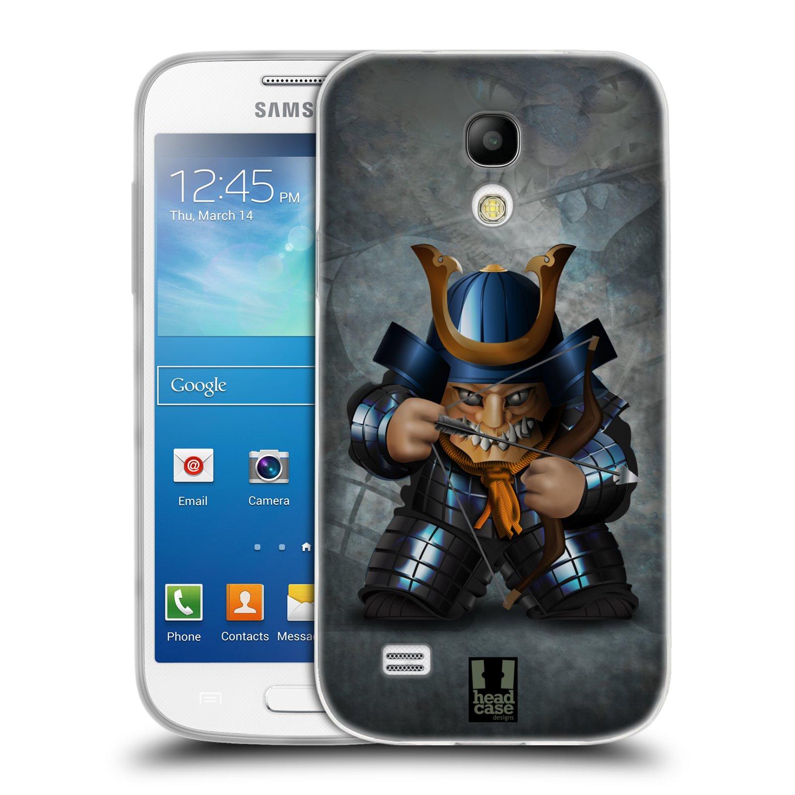 HEAD CASE silikonový obal na mobil Samsung Galaxy S4 MINI vzor Malí bojovníci SHOGUN STŘELEC