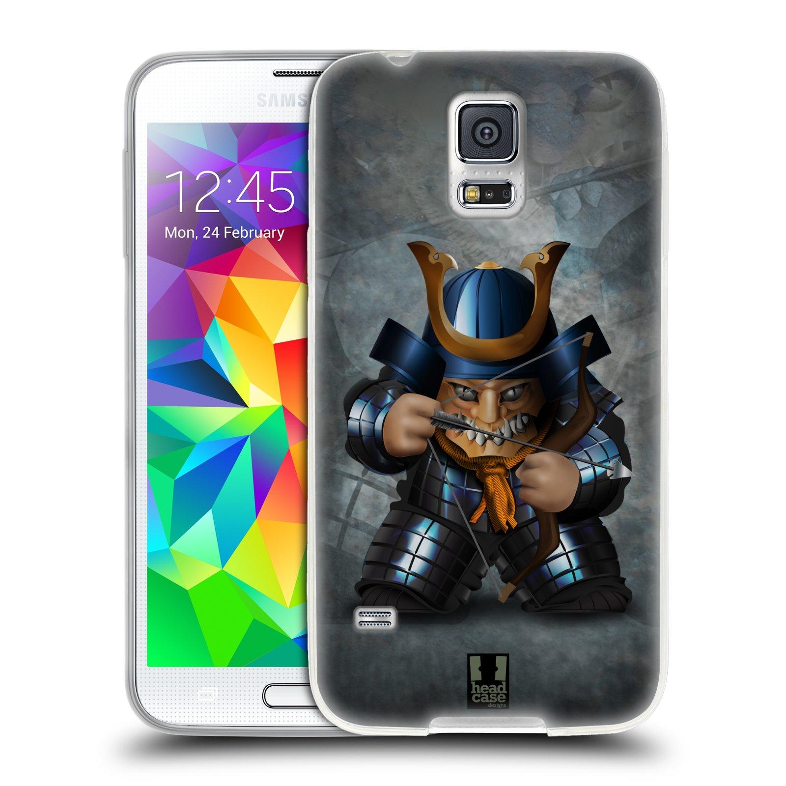 HEAD CASE silikonový obal na mobil Samsung Galaxy S5/S5 NEO vzor Malí bojovníci SHOGUN STŘELEC