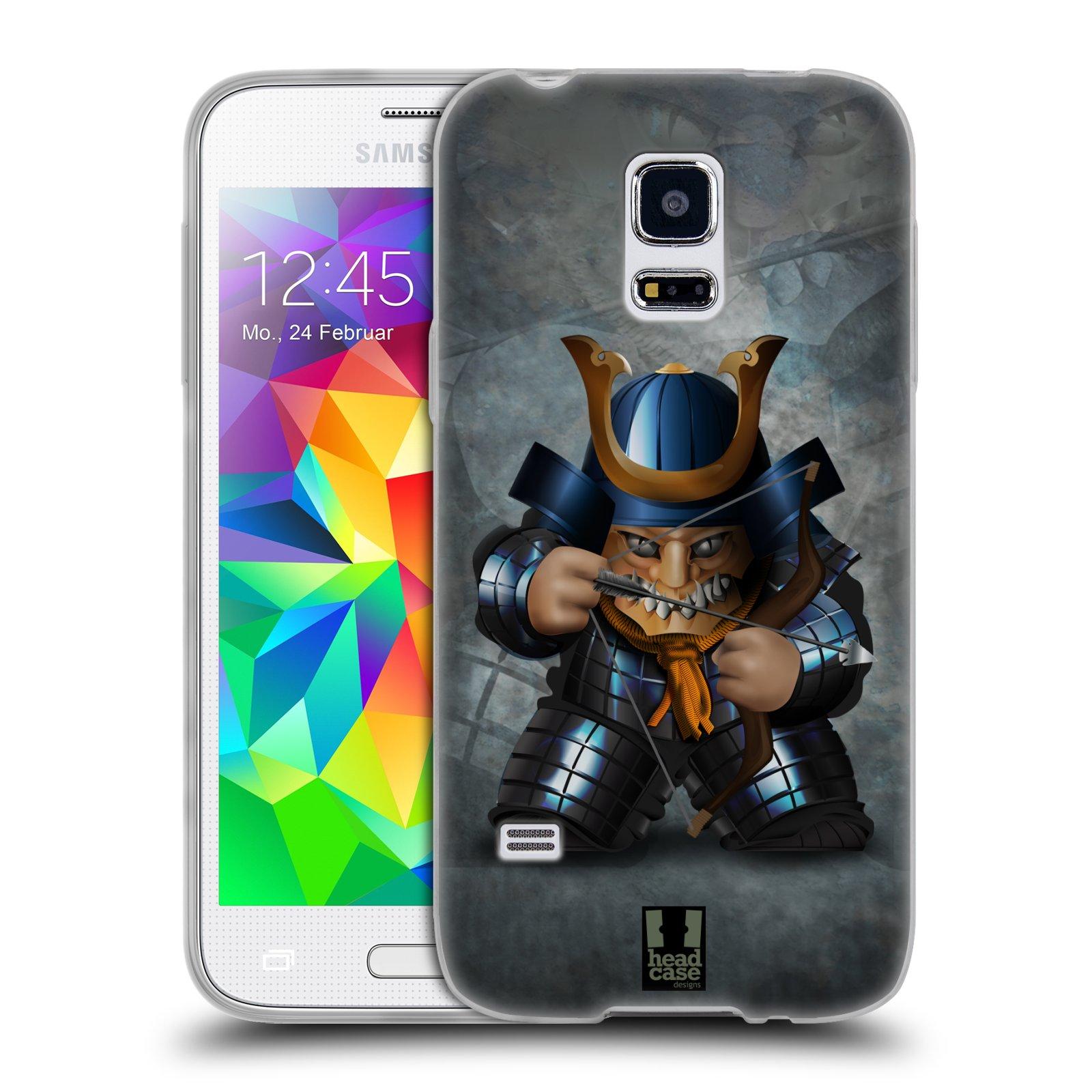 HEAD CASE silikonový obal na mobil Samsung Galaxy S5 MINI vzor Malí bojovníci SHOGUN STŘELEC