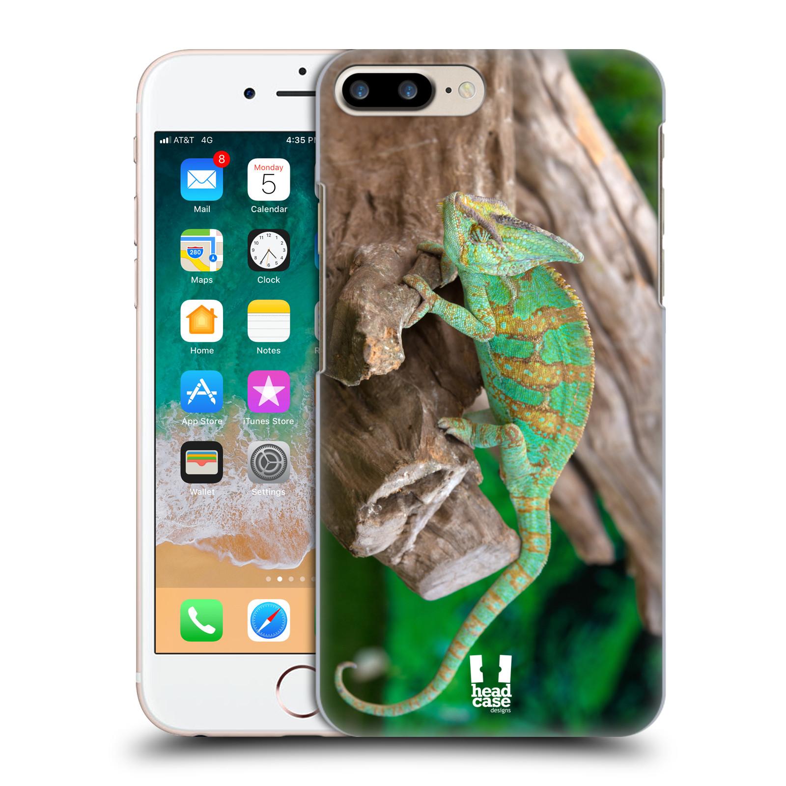 HEAD CASE plastový obal na mobil Apple Iphone 7 PLUS vzor slavná zvířata foto chameleon