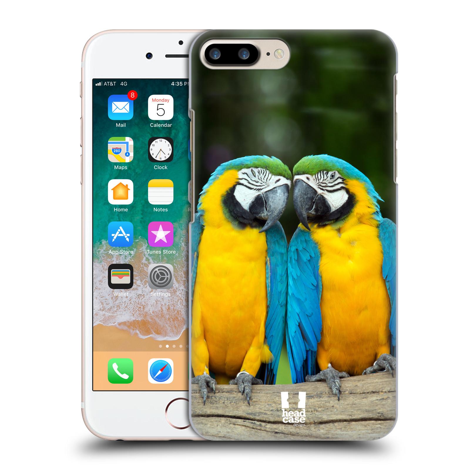 HEAD CASE plastový obal na mobil Apple Iphone 7 PLUS vzor slavná zvířata foto dva papoušci