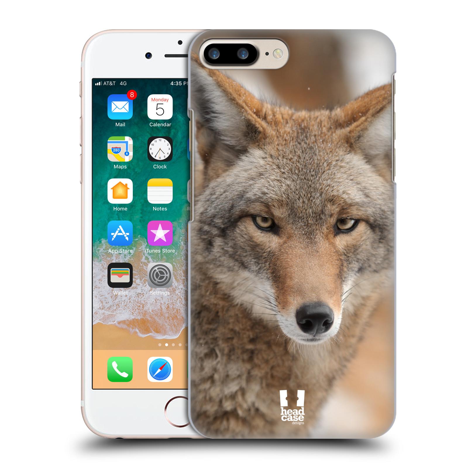 HEAD CASE plastový obal na mobil Apple Iphone 7 PLUS vzor slavná zvířata foto kojot