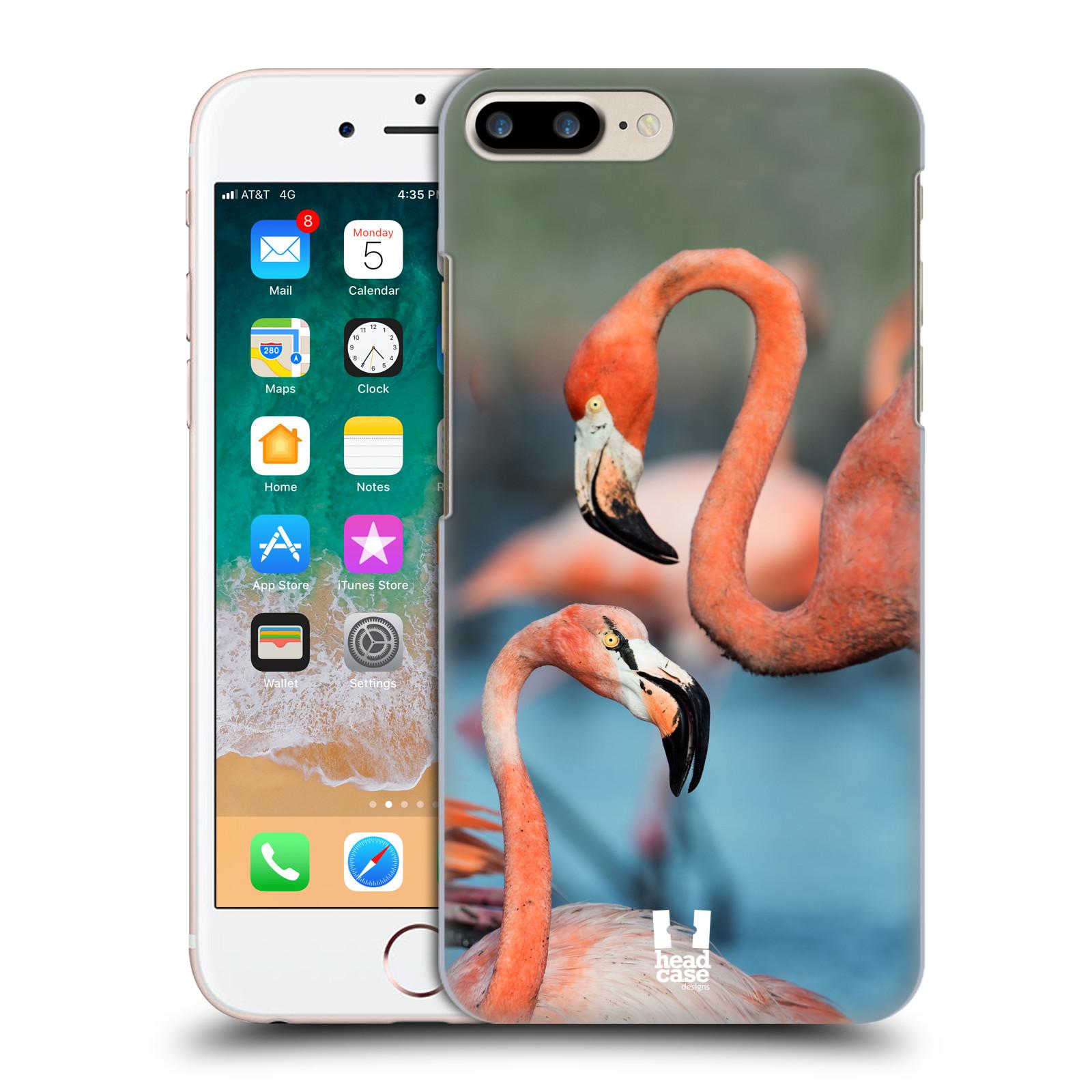 HEAD CASE plastový obal na mobil Apple Iphone 7 PLUS vzor slavná zvířata foto plameňák