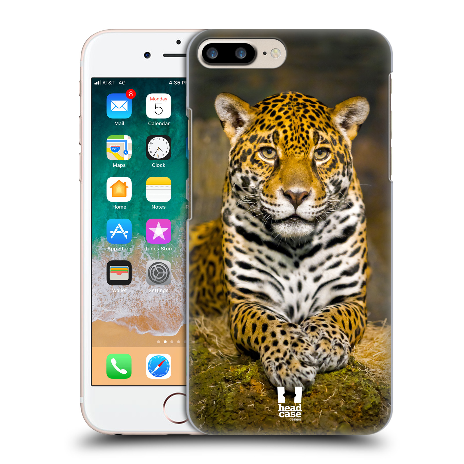 HEAD CASE plastový obal na mobil Apple Iphone 7 PLUS vzor slavná zvířata foto jaguár