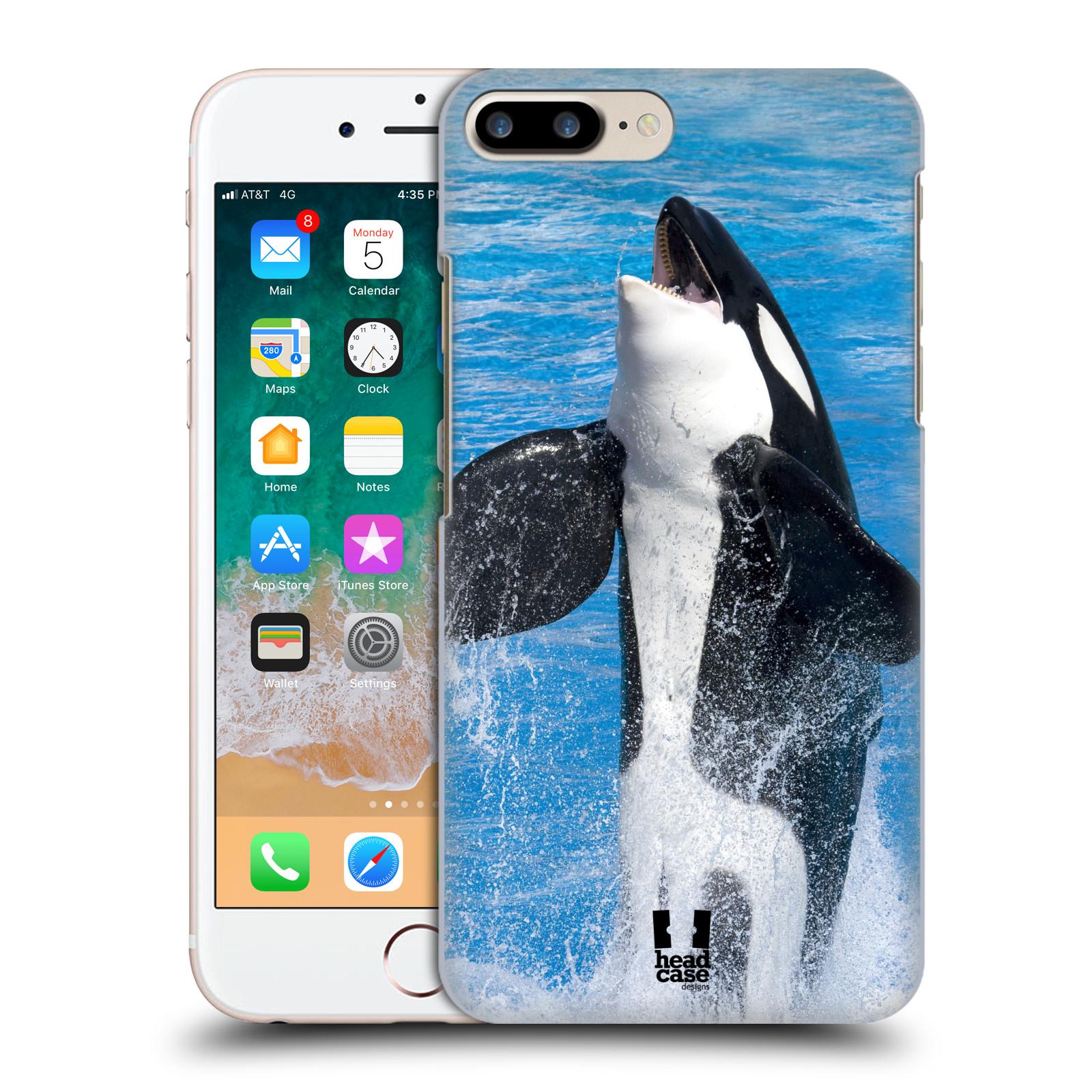 HEAD CASE plastový obal na mobil Apple Iphone 7 PLUS vzor slavná zvířata foto velryba
