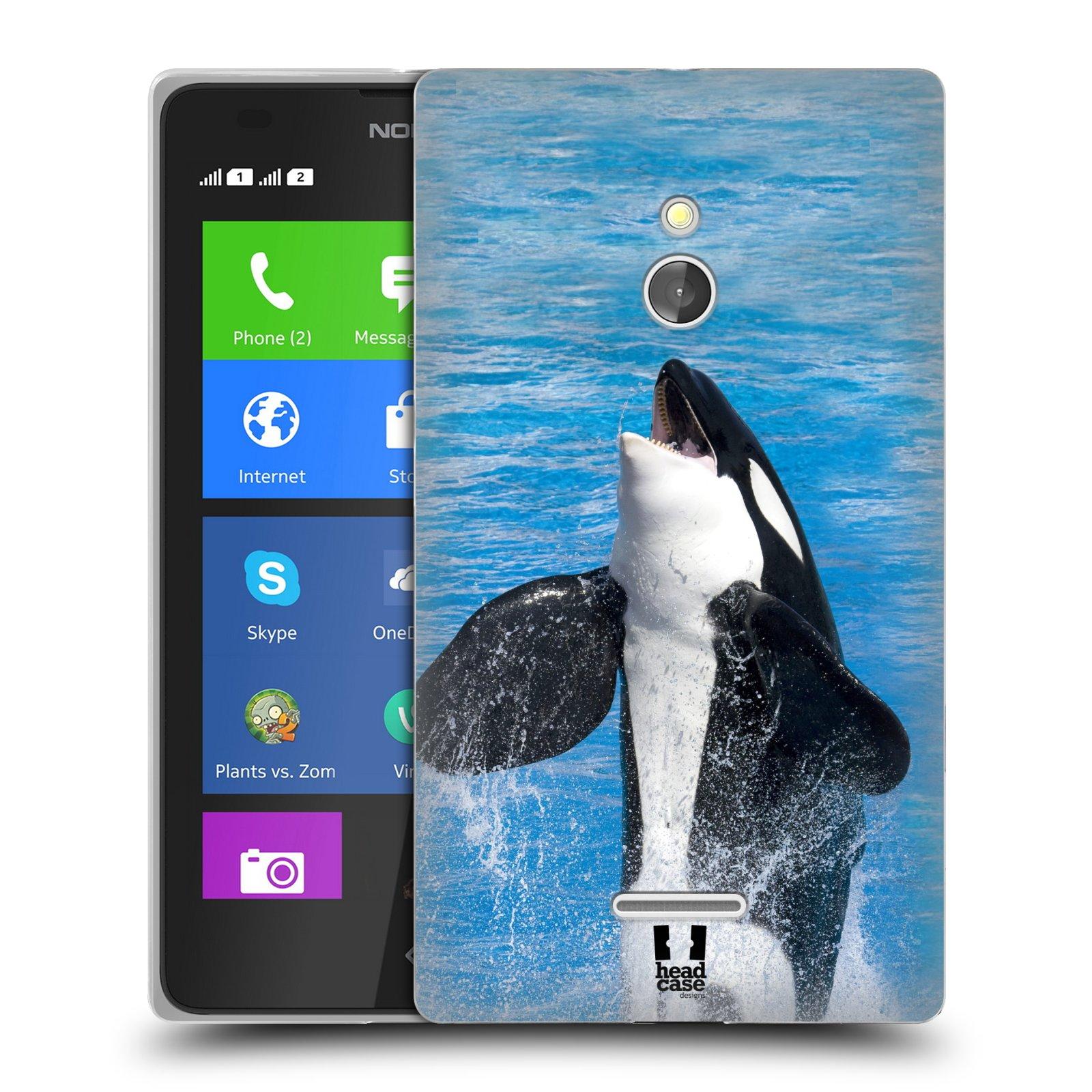 HEAD CASE silikonový obal na mobil NOKIA XL / NOKIA XL DUAL SIM vzor slavná zvířata foto velryba