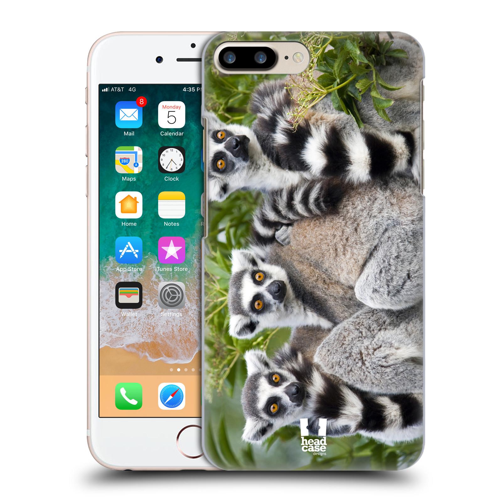 HEAD CASE plastový obal na mobil Apple Iphone 7 PLUS vzor slavná zvířata foto lemur