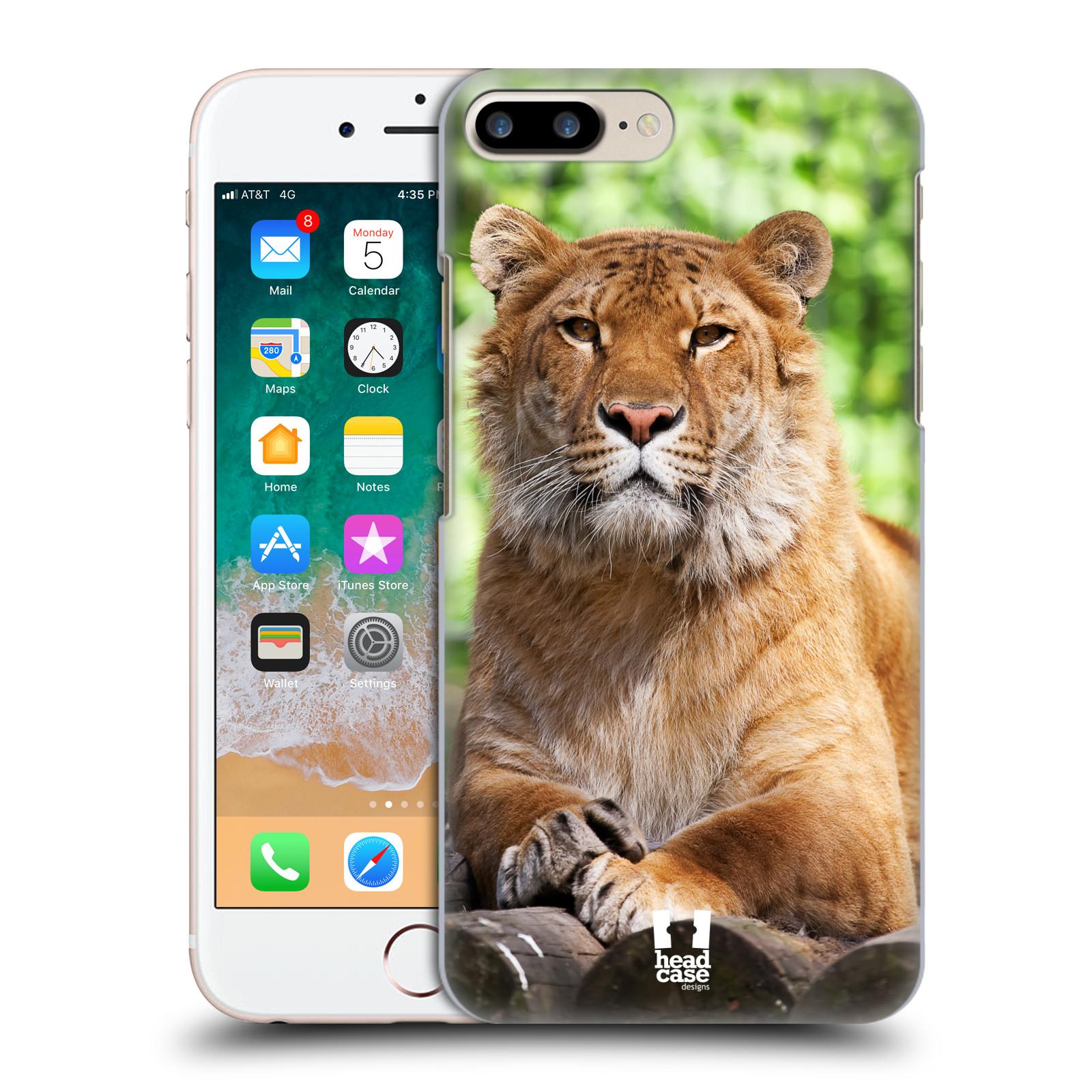 HEAD CASE plastový obal na mobil Apple Iphone 7 PLUS vzor slavná zvířata foto tygr