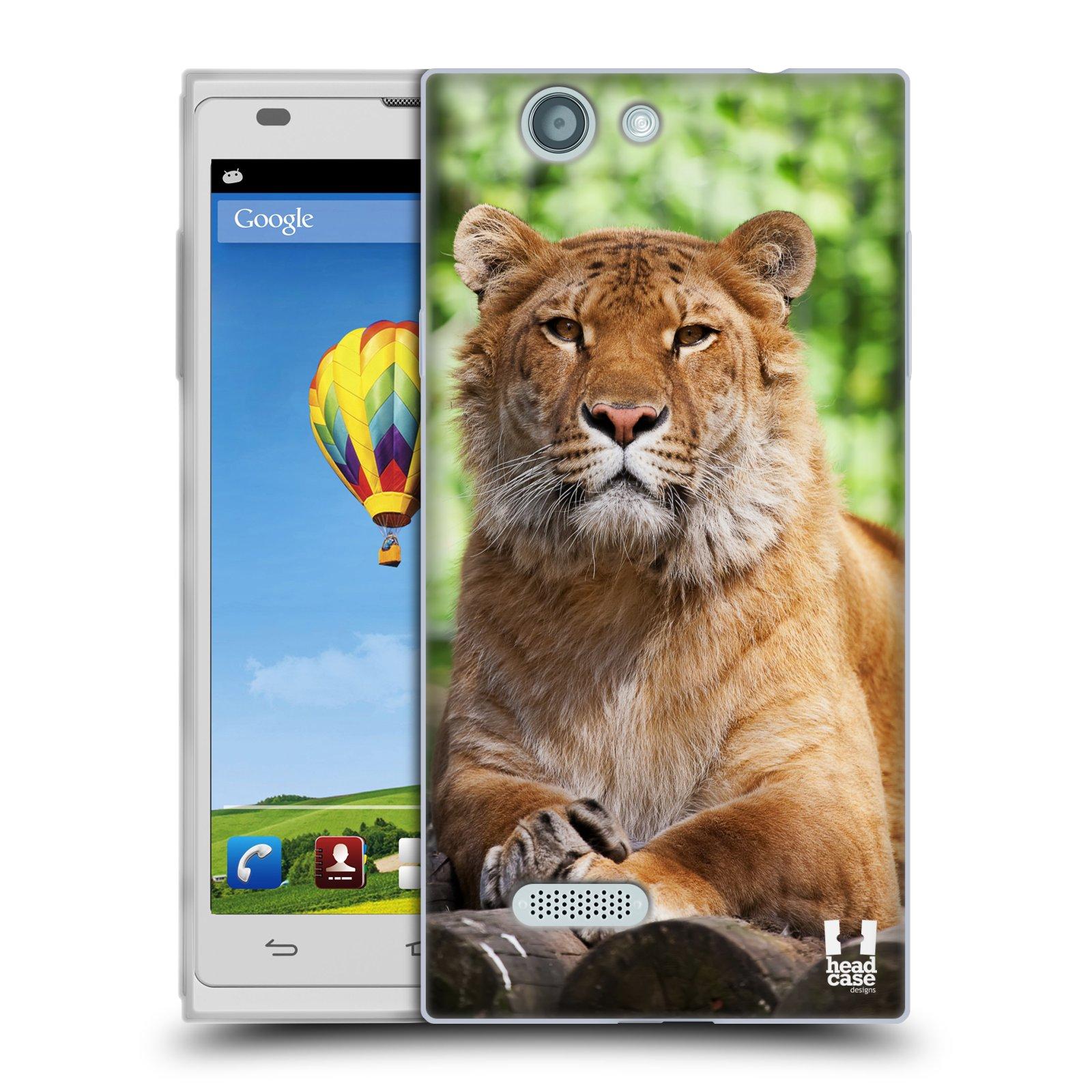 HEAD CASE silikonový obal na mobil ZTE Blade L2 / L2 DUAL vzor slavná zvířata foto tygr