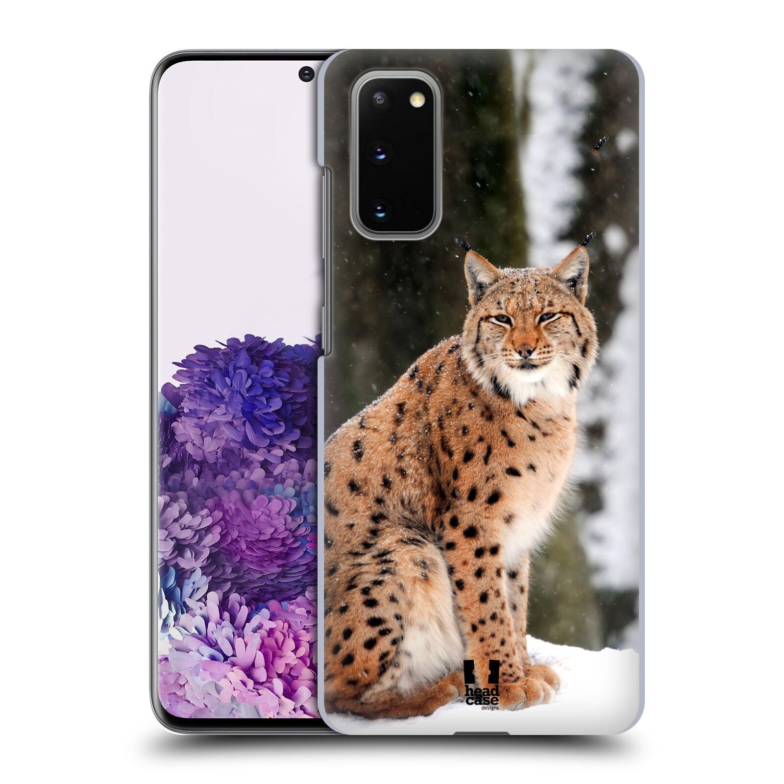 Pouzdro na mobil Samsung Galaxy S20 - HEAD CASE - vzor slavná zvířata foto rys